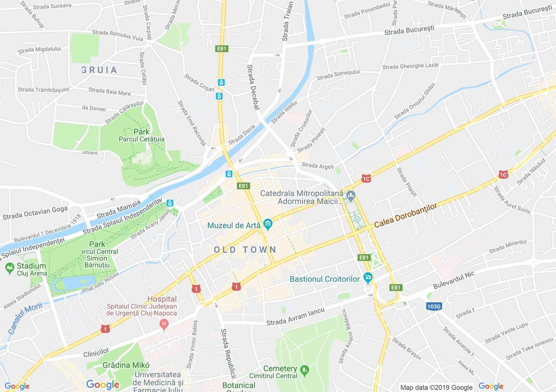 Kolozsvár: Ásványtani Múzeum (térkép)