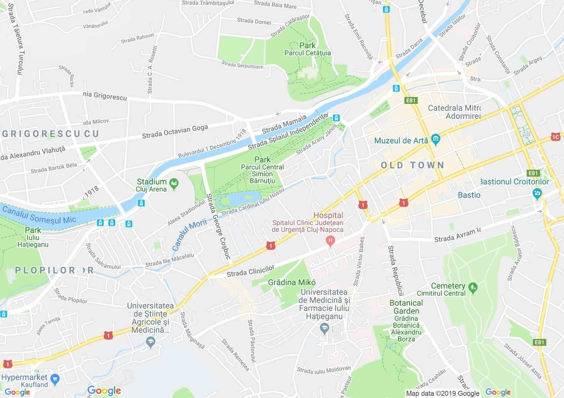 Kolozsvár: Állattani múzeum (térkép)