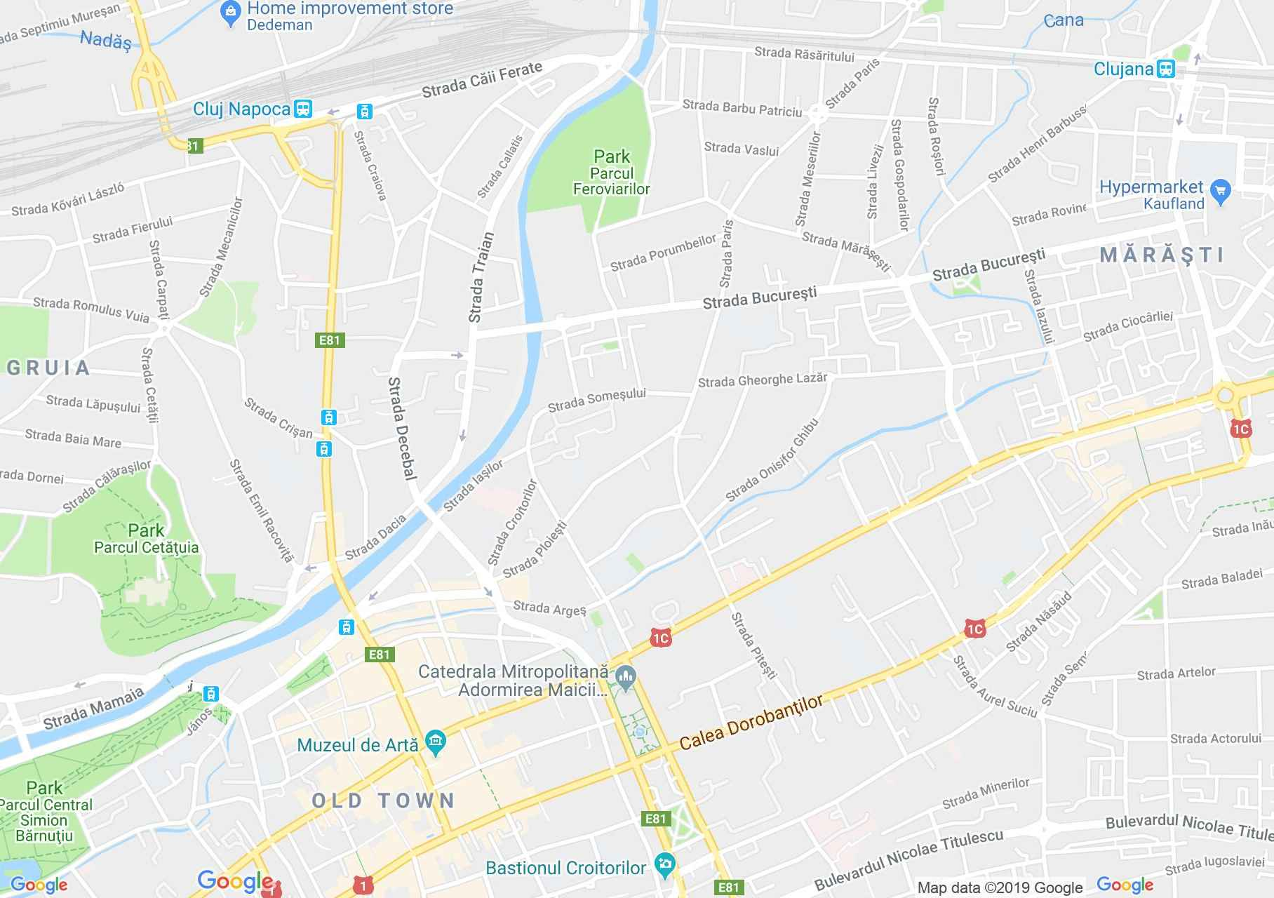 Kolozsvár: EMKE palota (térkép)