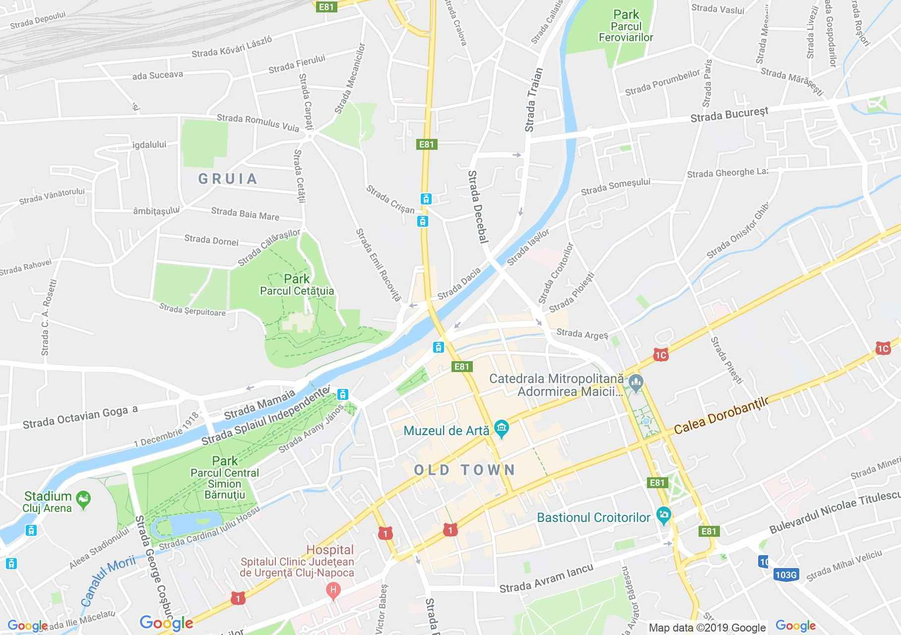 Hartă Cluj-Napoca: Parohia romano-catolică