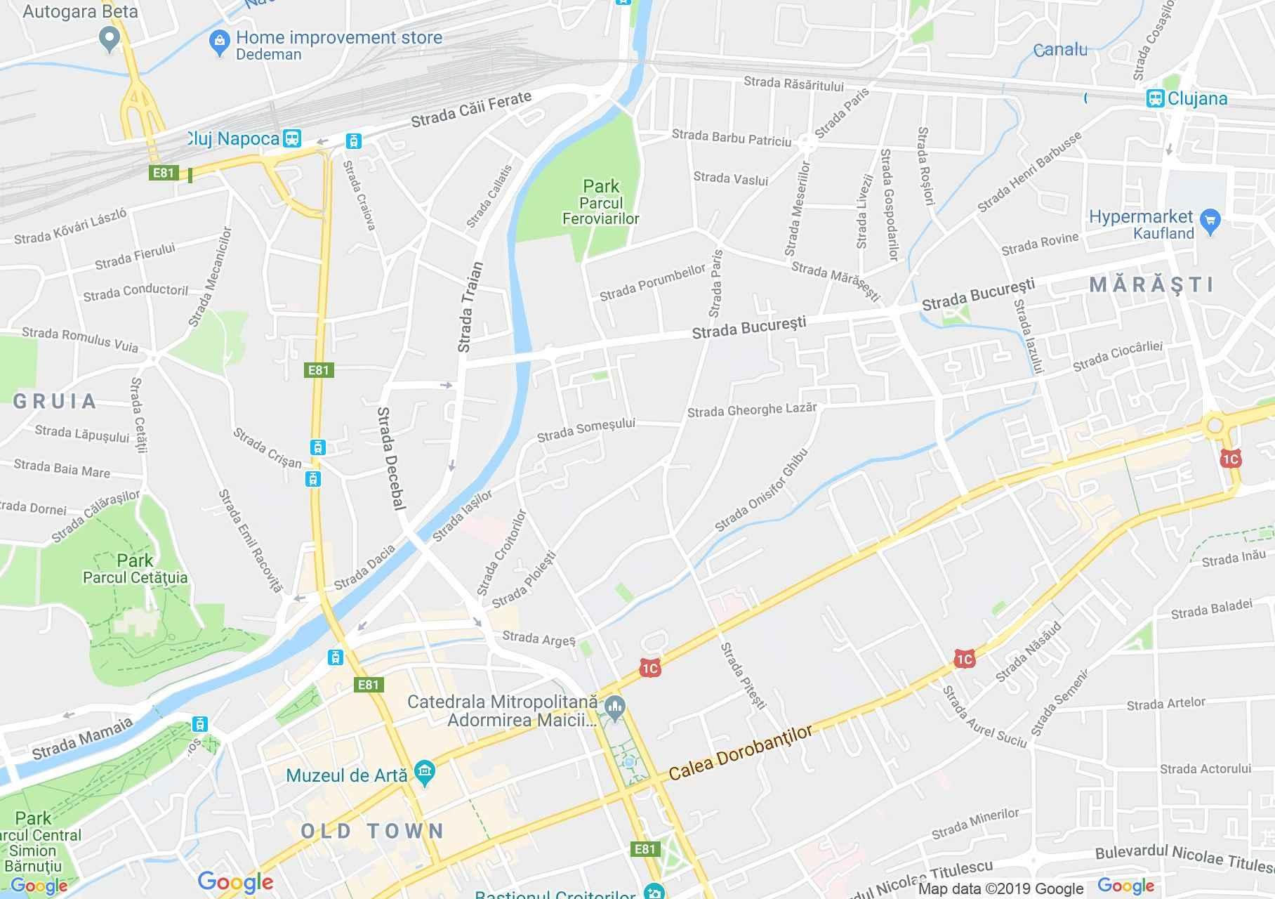 Hartă Cluj-Napoca: Parohia reformată