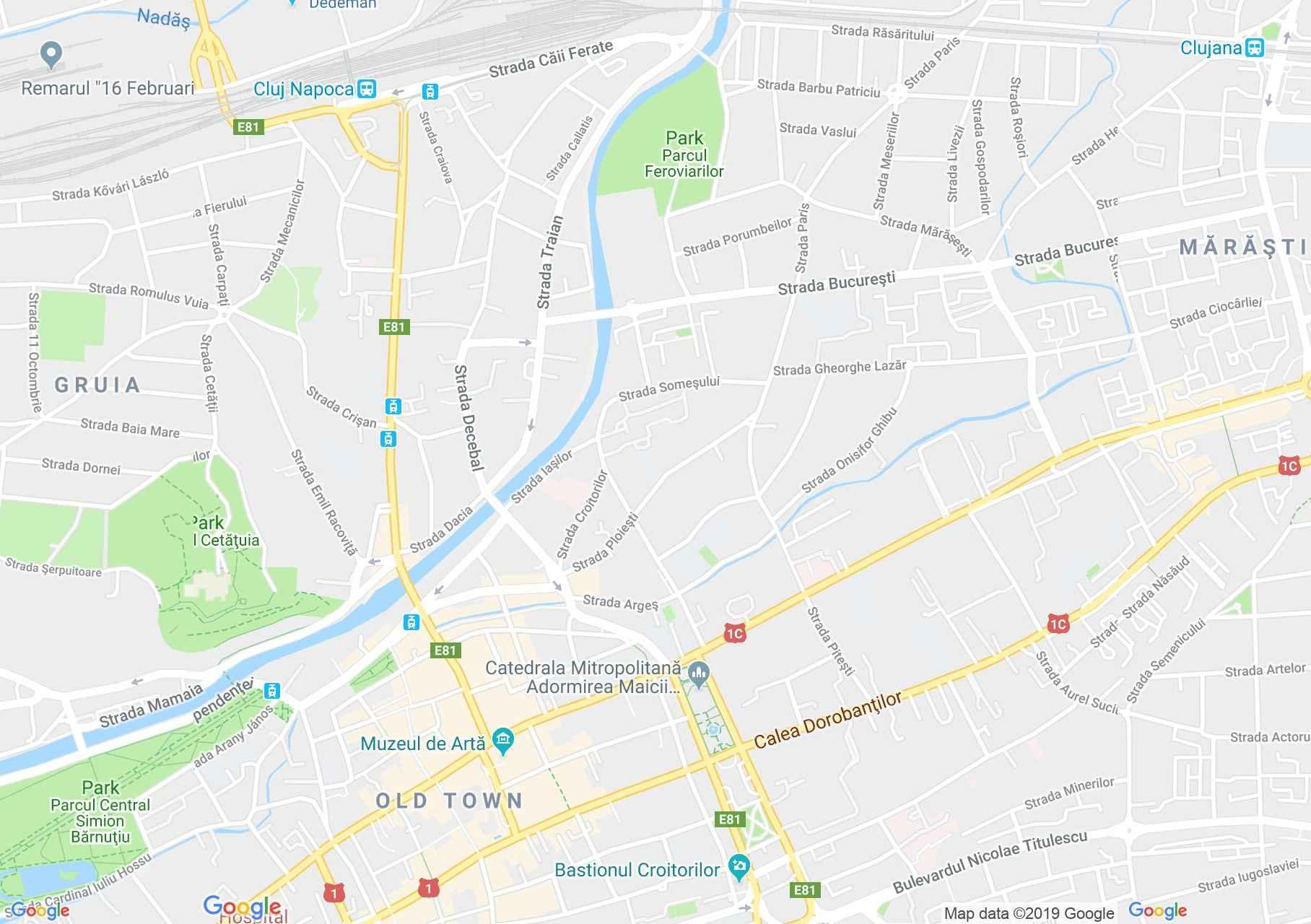Hartă Cluj-Napoca: Palatul administrativ