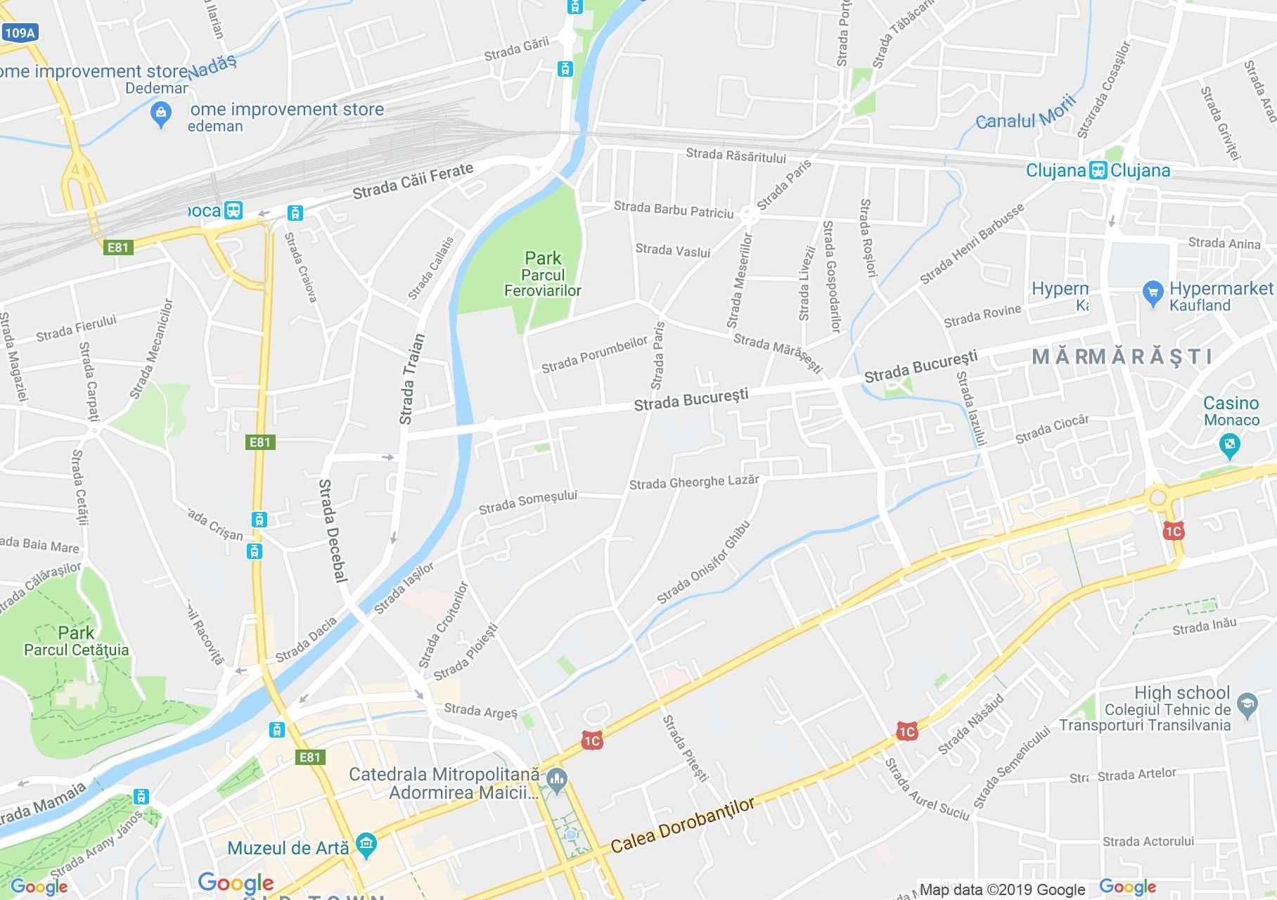 Hartă Cluj-Napoca: Prima Sinagogă
