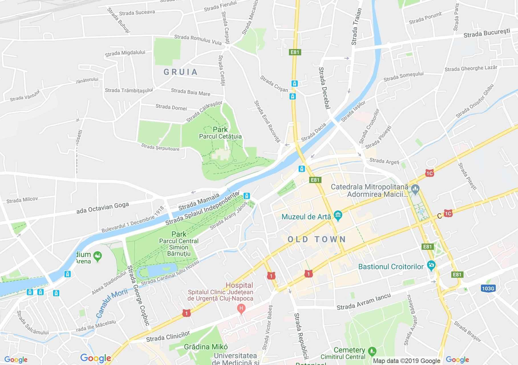 Hartă Cluj-Napoca: Primăria