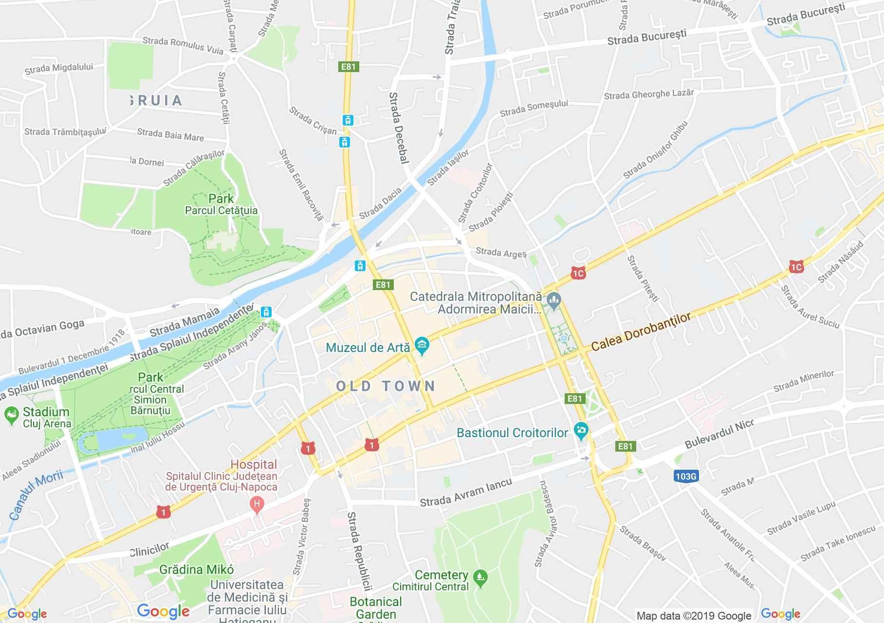 Kolozsvár: Babeş-Bolyai Tudományegyetem (térkép)