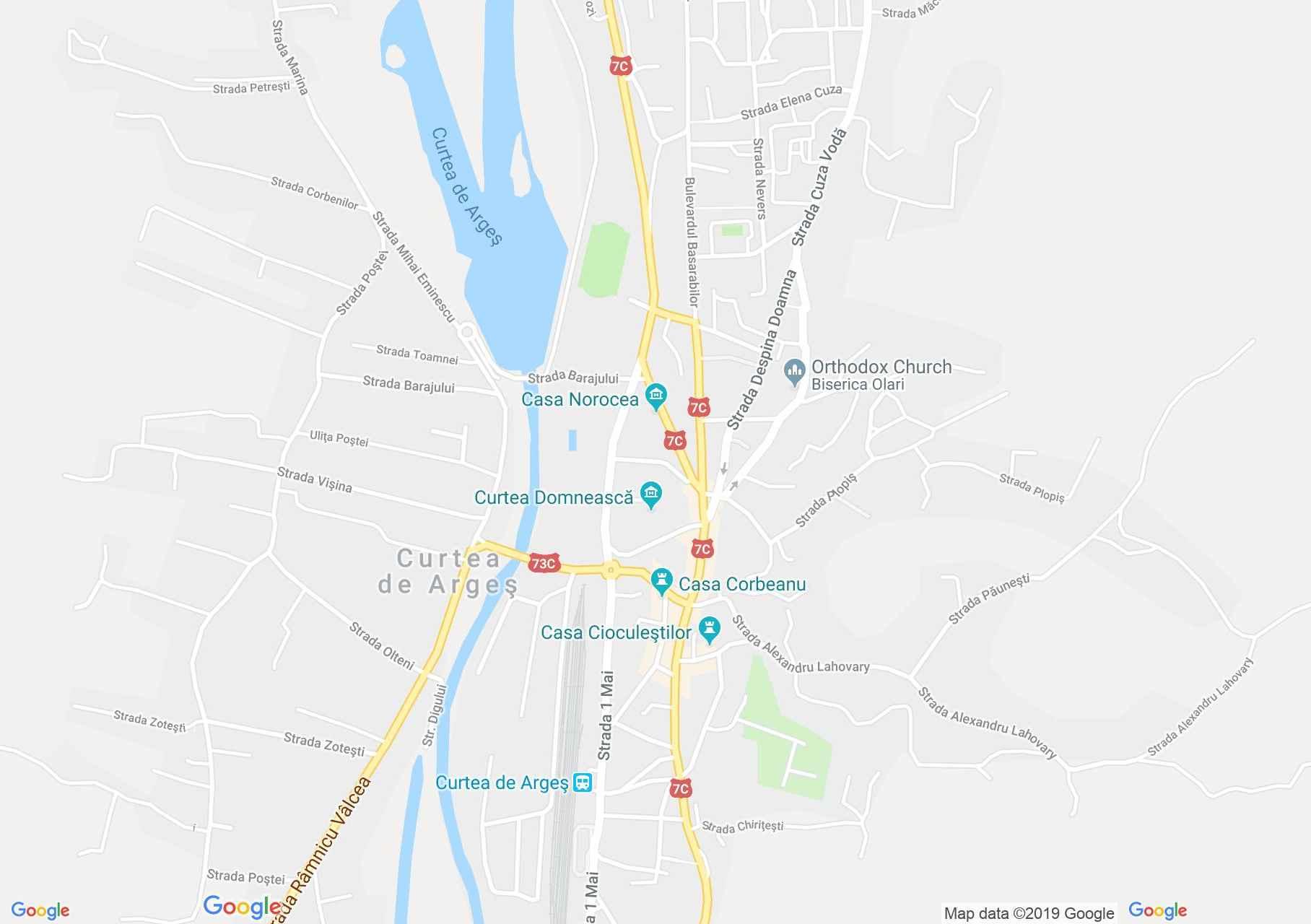 Curtea de Argeş: Goangă ház (térkép)