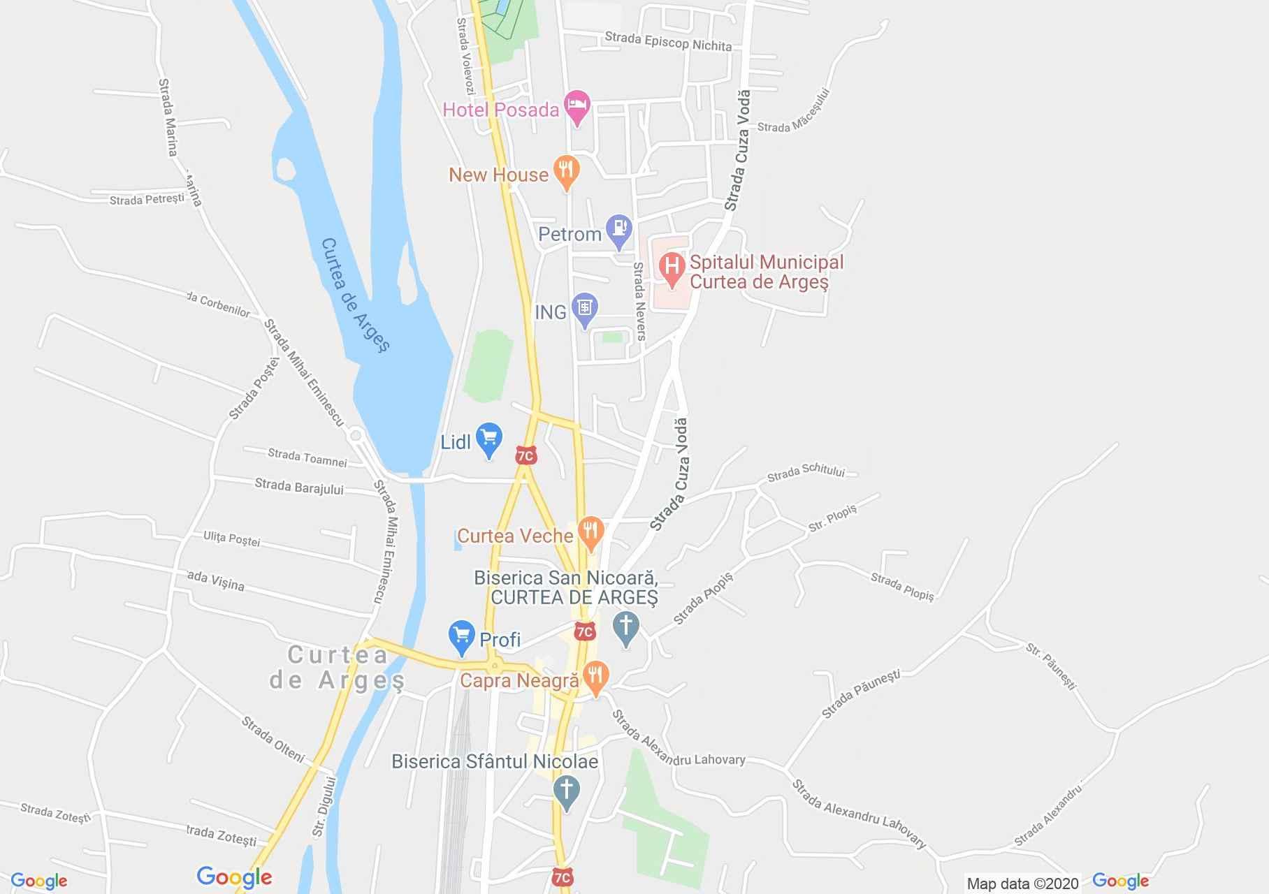 Hartă Curtea de Argeş: Ruinele Sân Nicoara