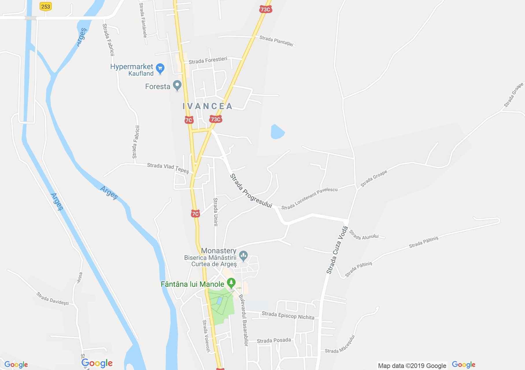 Hartă Curtea de Argeş: Sala meşterului Manole