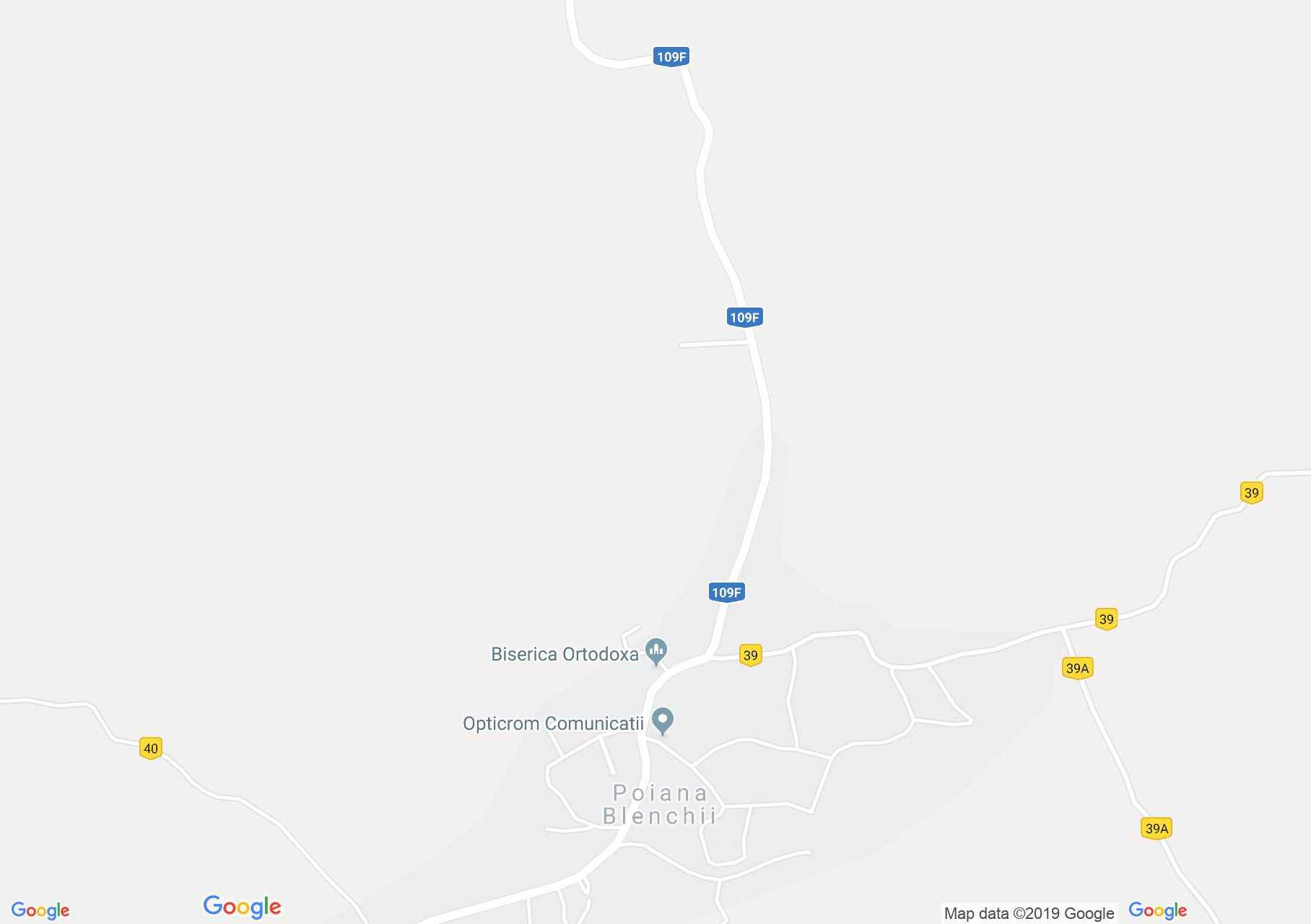 Map of Poiana Blenchii: Orthodox church
