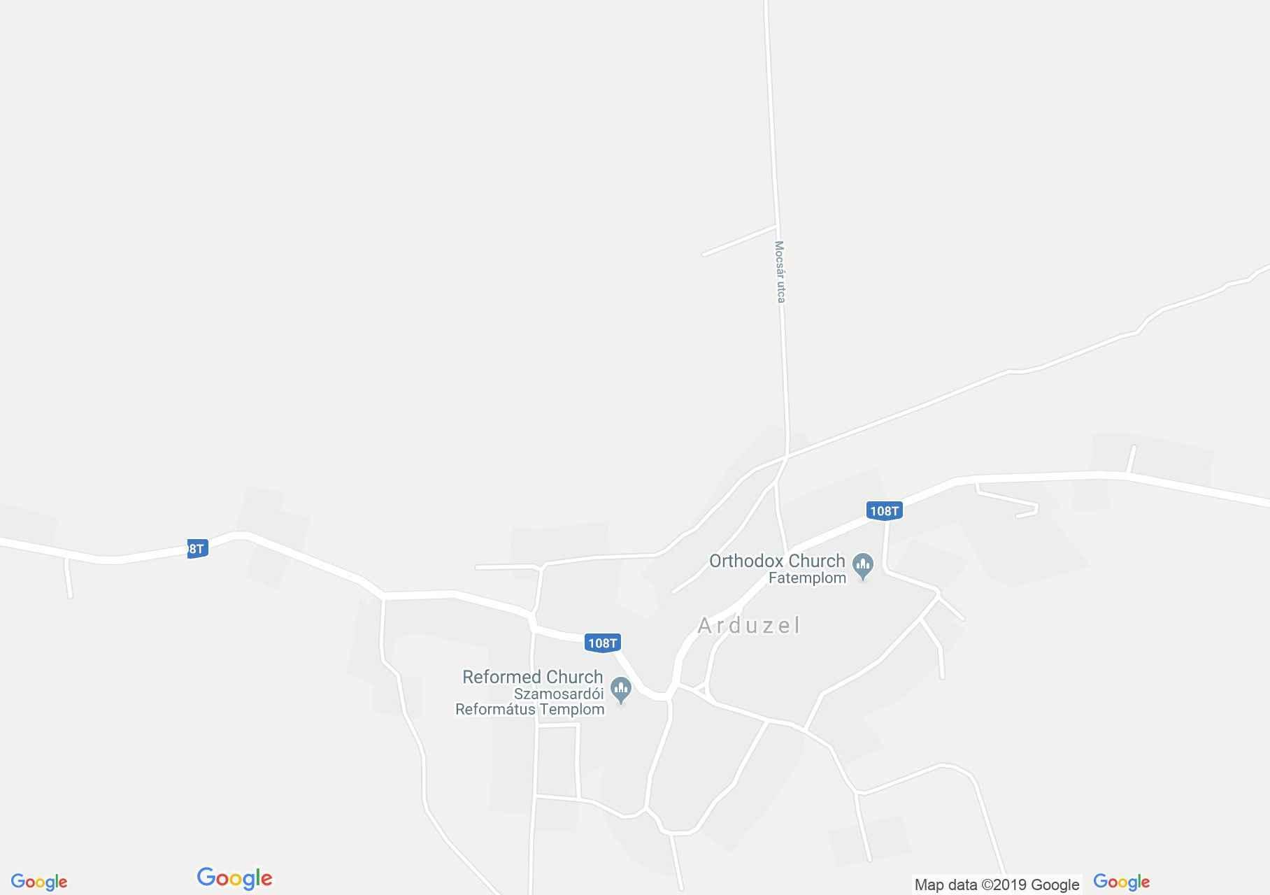 Hartă Arduzel: Biserica reformată