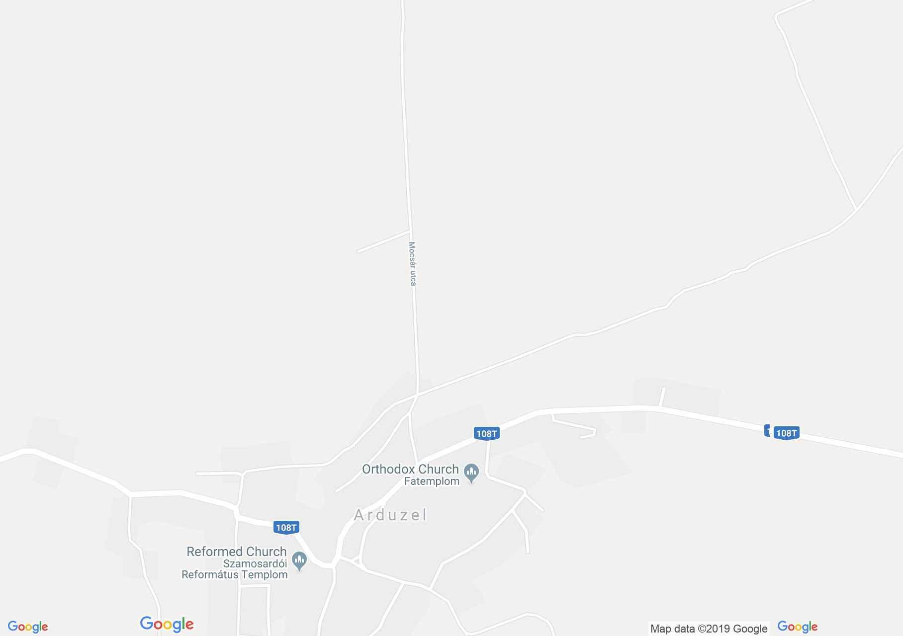 Szamosardó: Fatemplom (térkép)