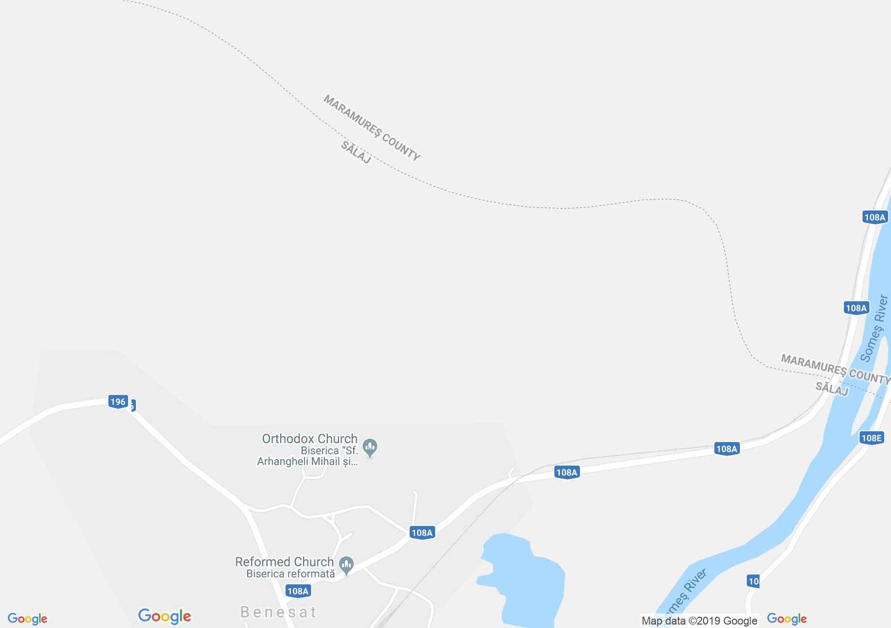 Map of Benesat: Orthodox church