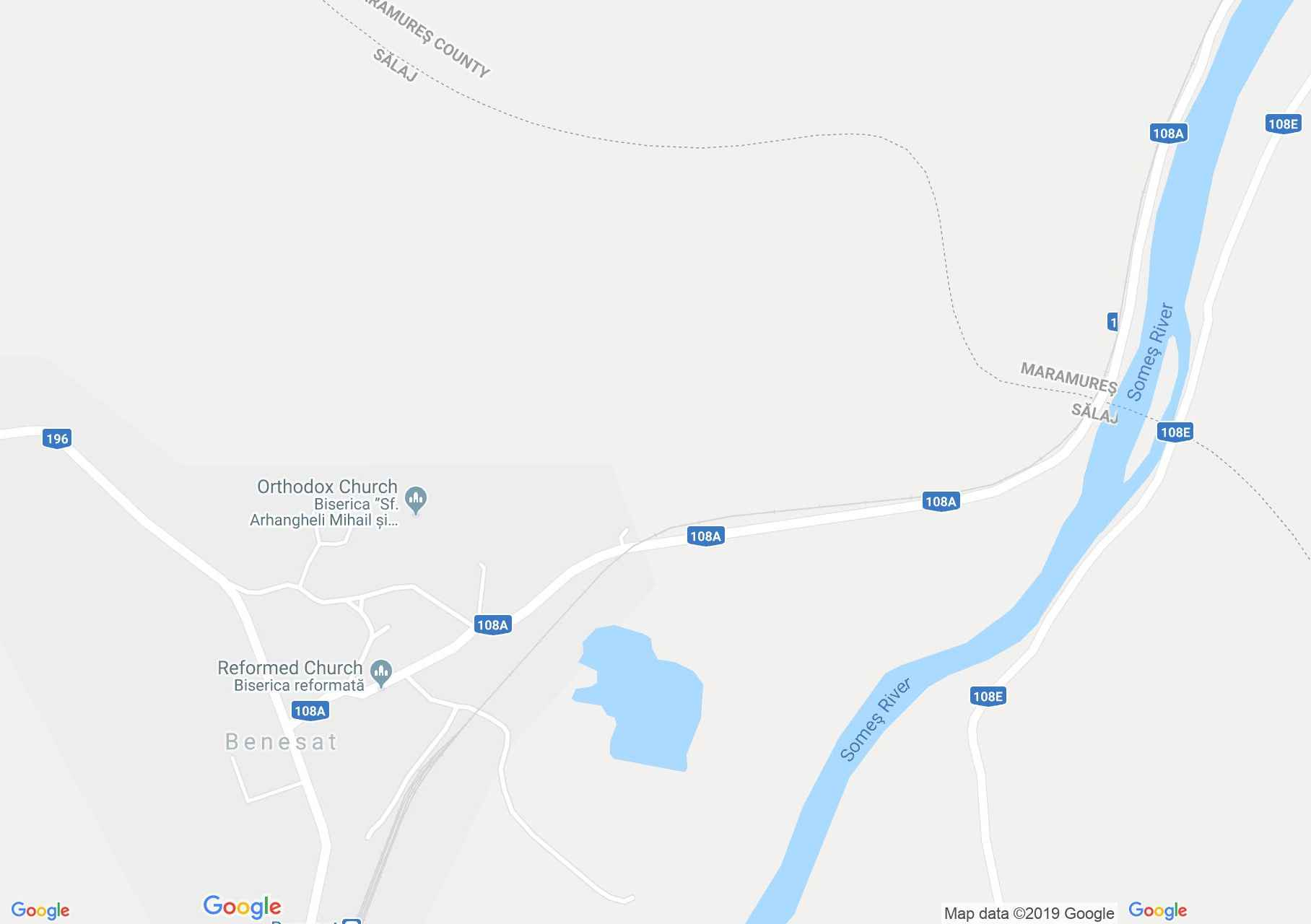 Map of Benesat: The lake
