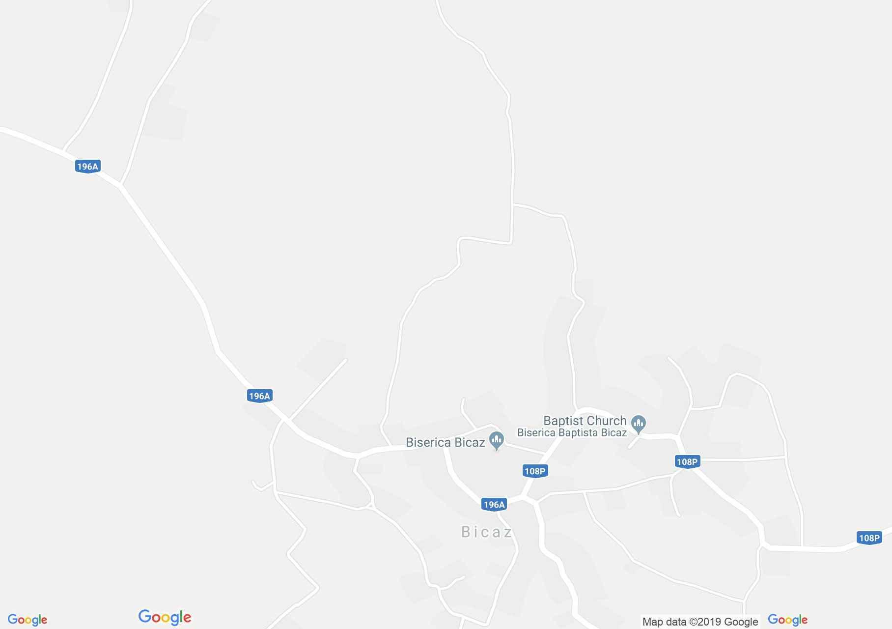 Bikáczfalva: Fatemplom (térkép)