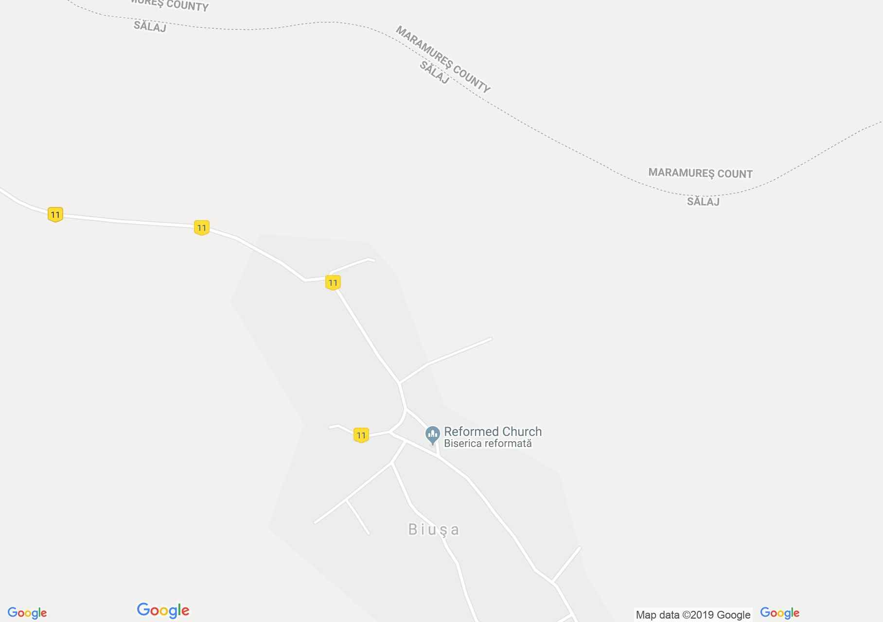 Bősháza: Református templom (térkép)