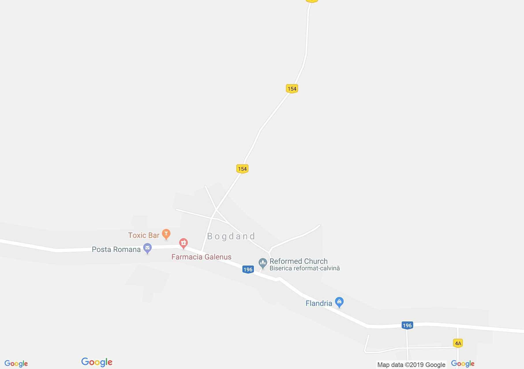 Bogdánd: Református templom (térkép)