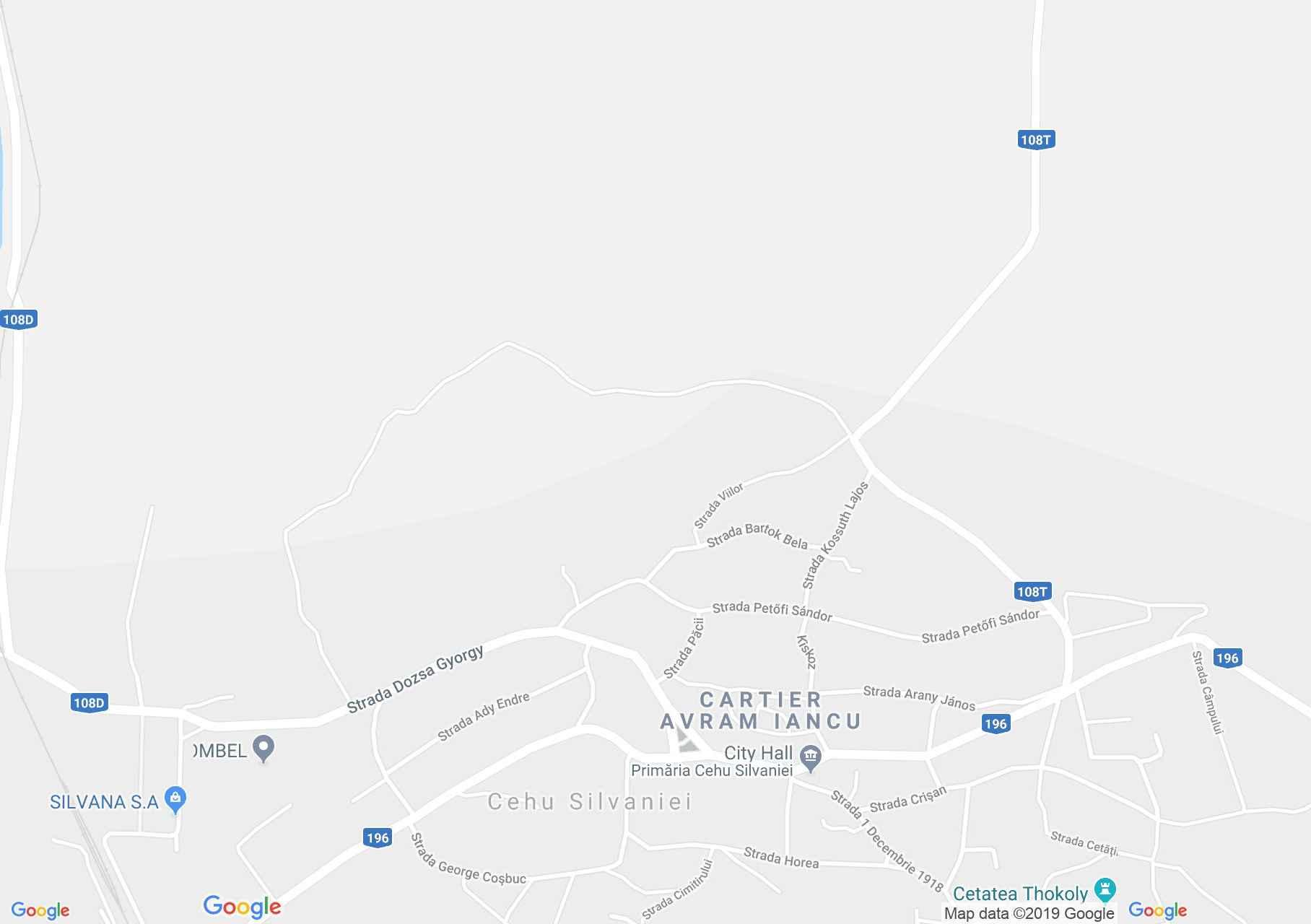 Szilágycseh (térkép)