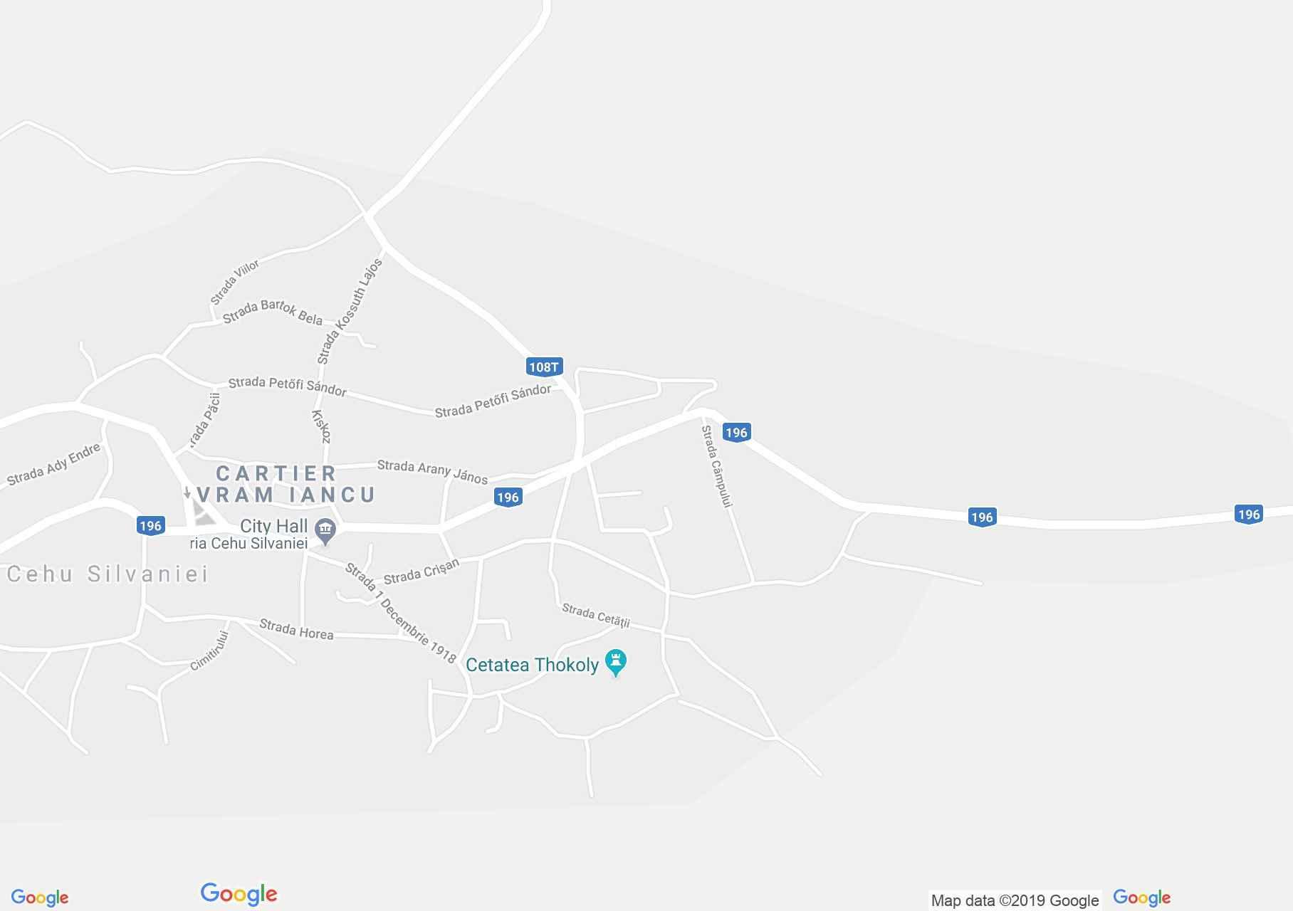 Szilágycseh: Csehi vár (térkép)