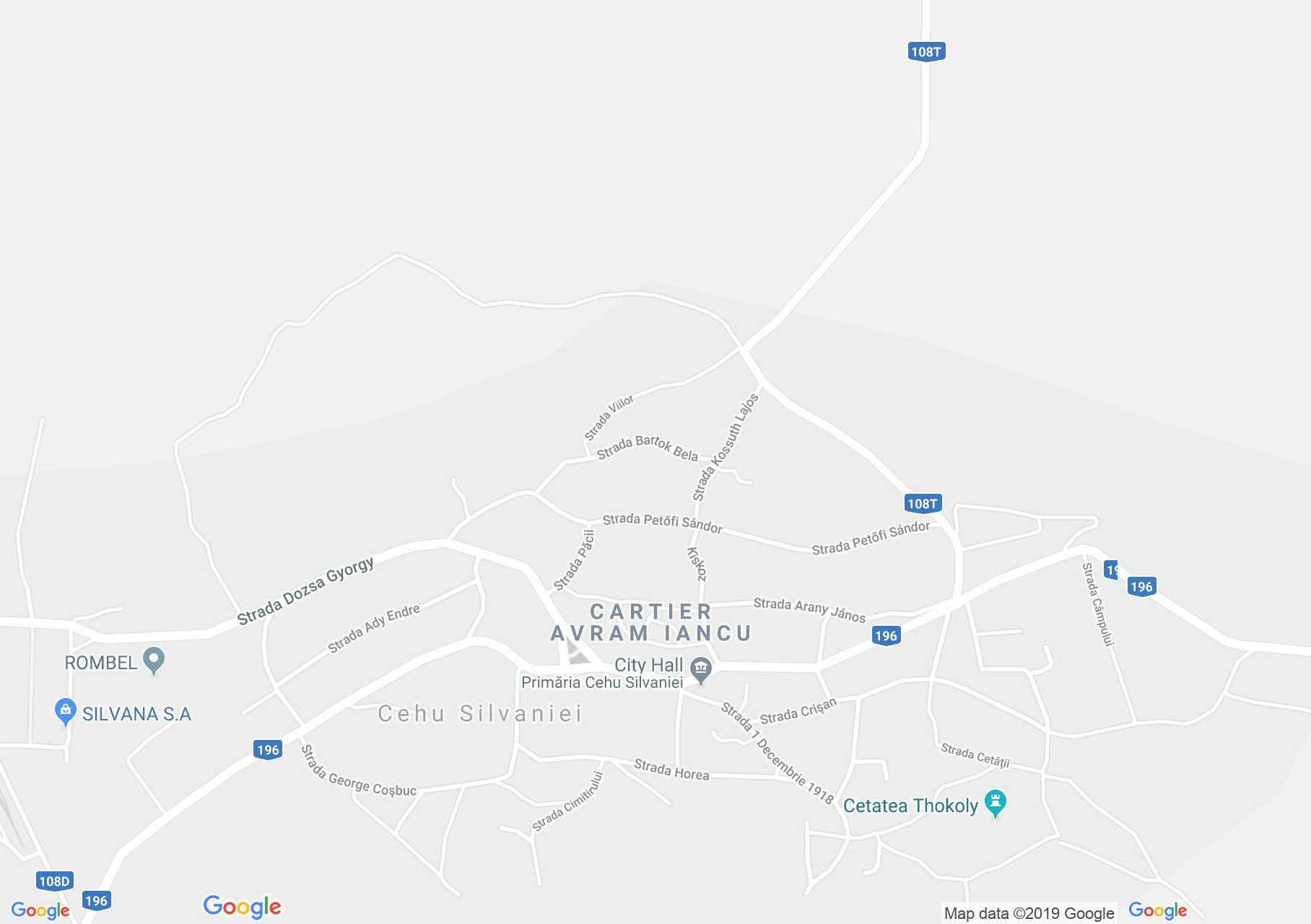 Szilágycseh: Állami polgári fiú iskola (térkép)