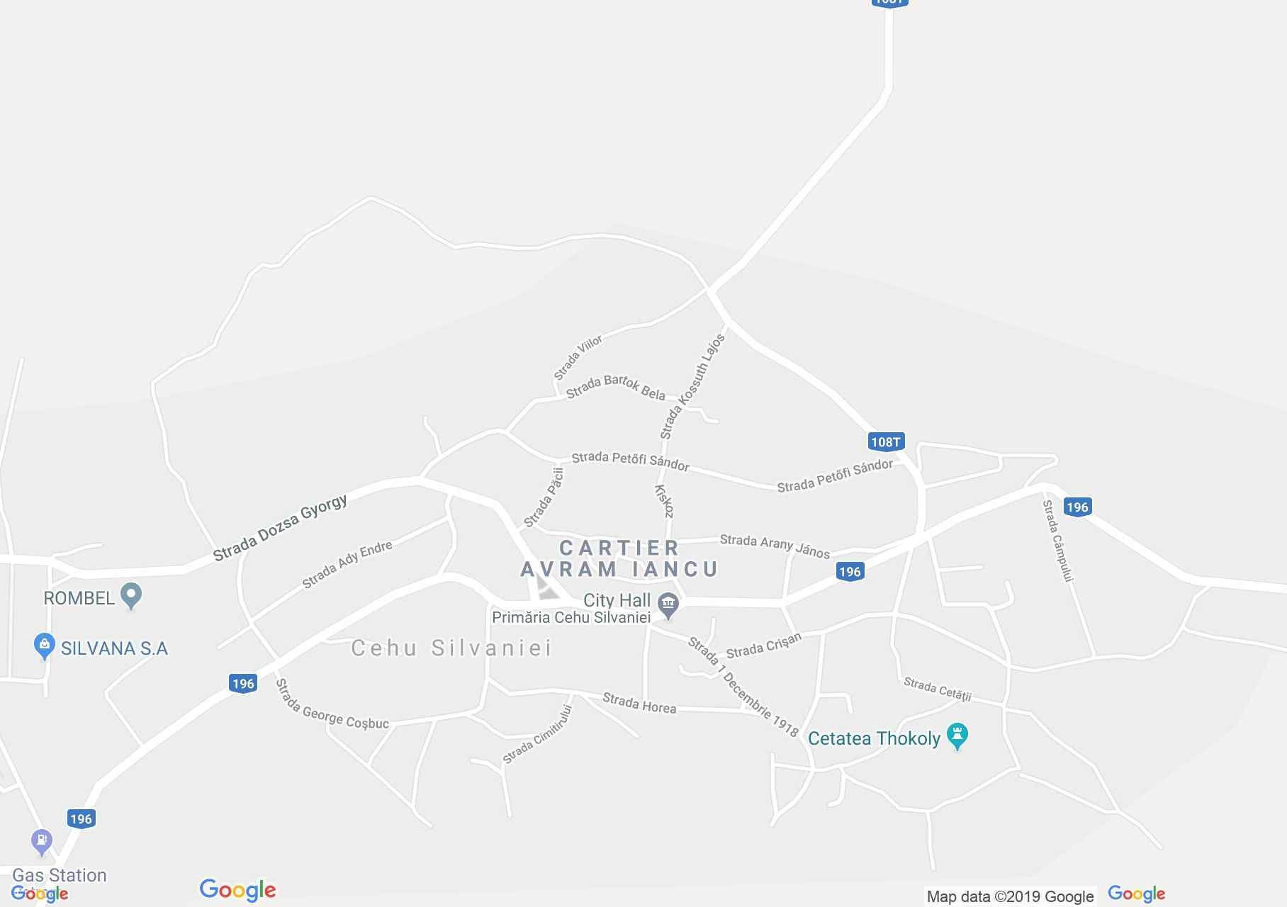 Szilágycseh: Magyar iskola (térkép)