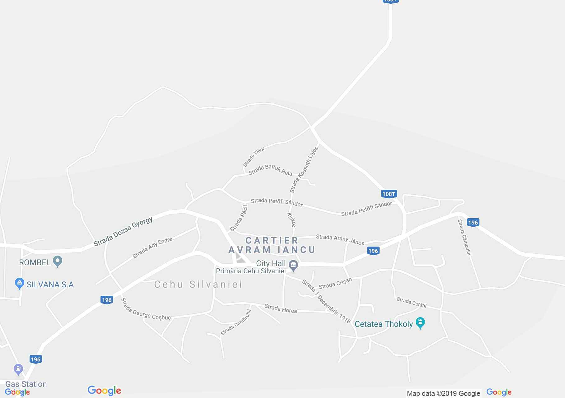 Map of Cehu Silvaniei: Hungarian school