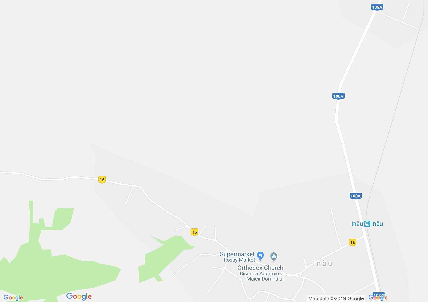 Map of Inău: Wooden church