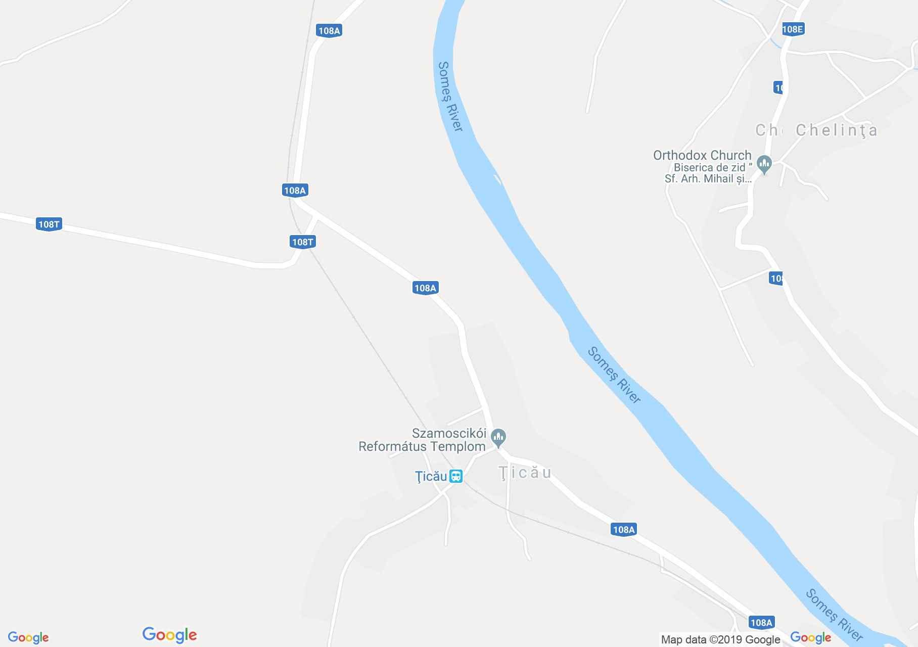 Hartă Ţicău