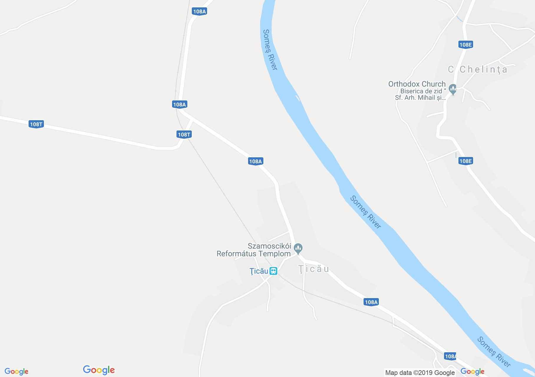 Hartă Ţicău: Biserica ortodoxă