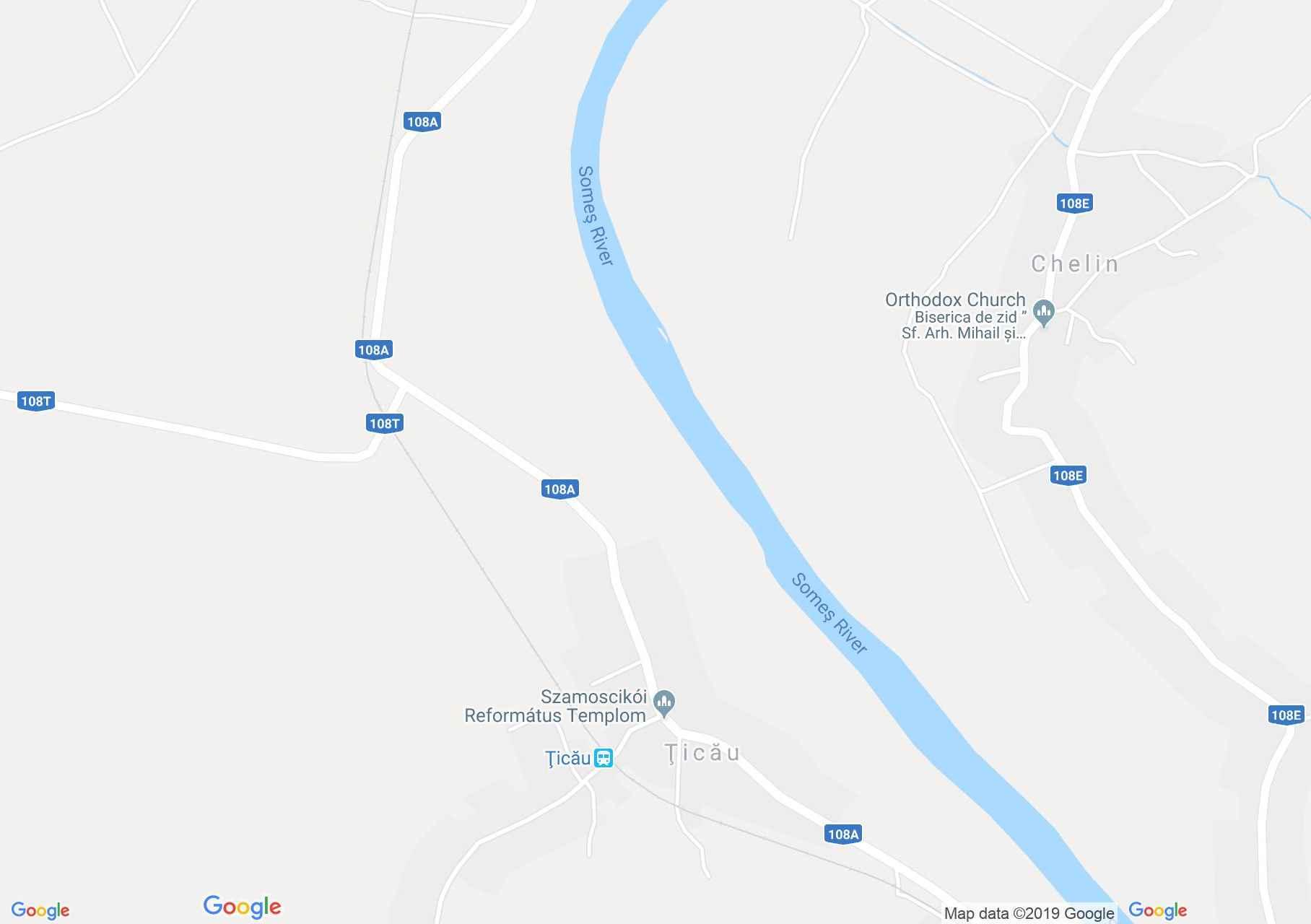 Hartă Ţicău: Castelul Pechy
