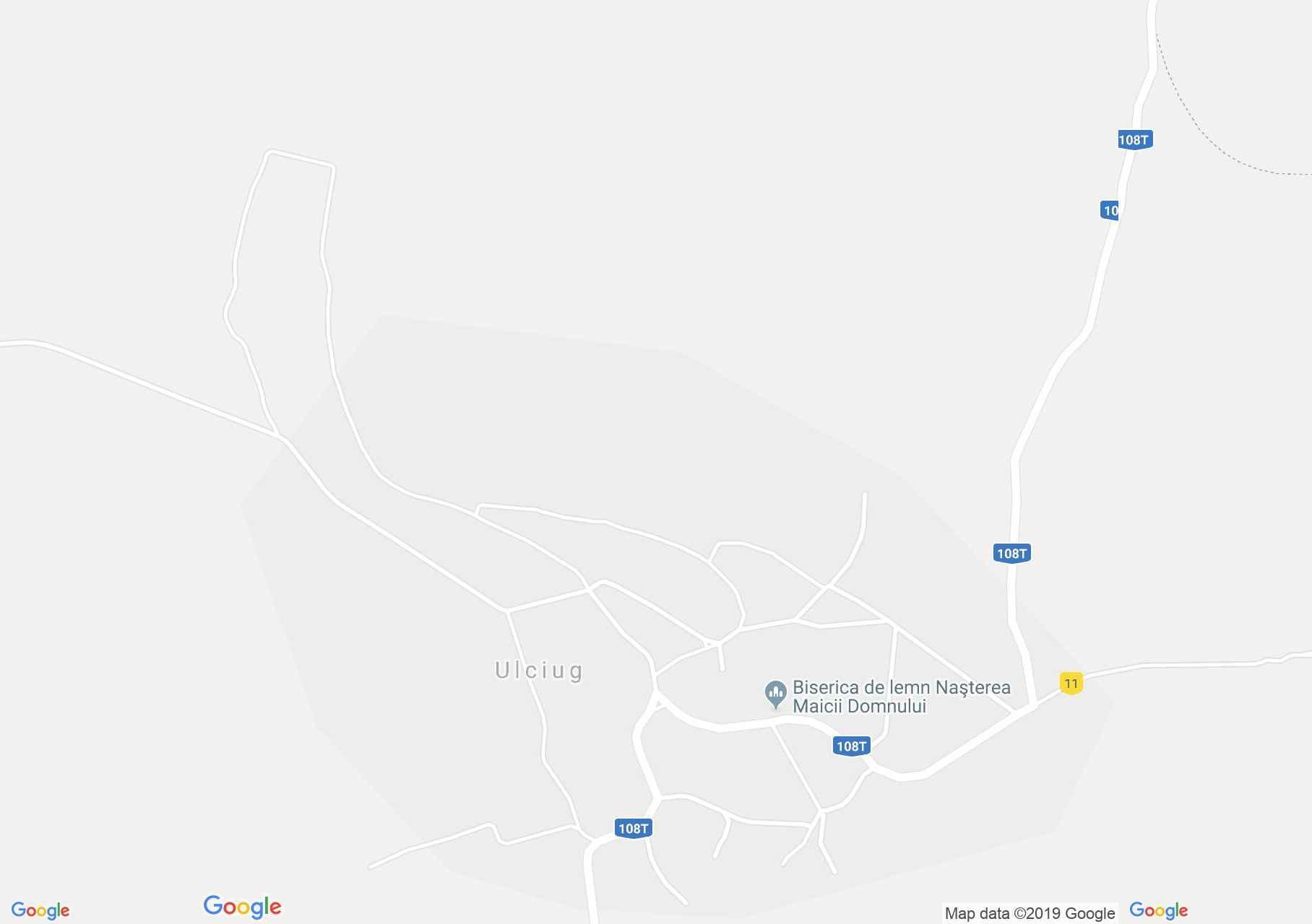 Hartă Ulciug