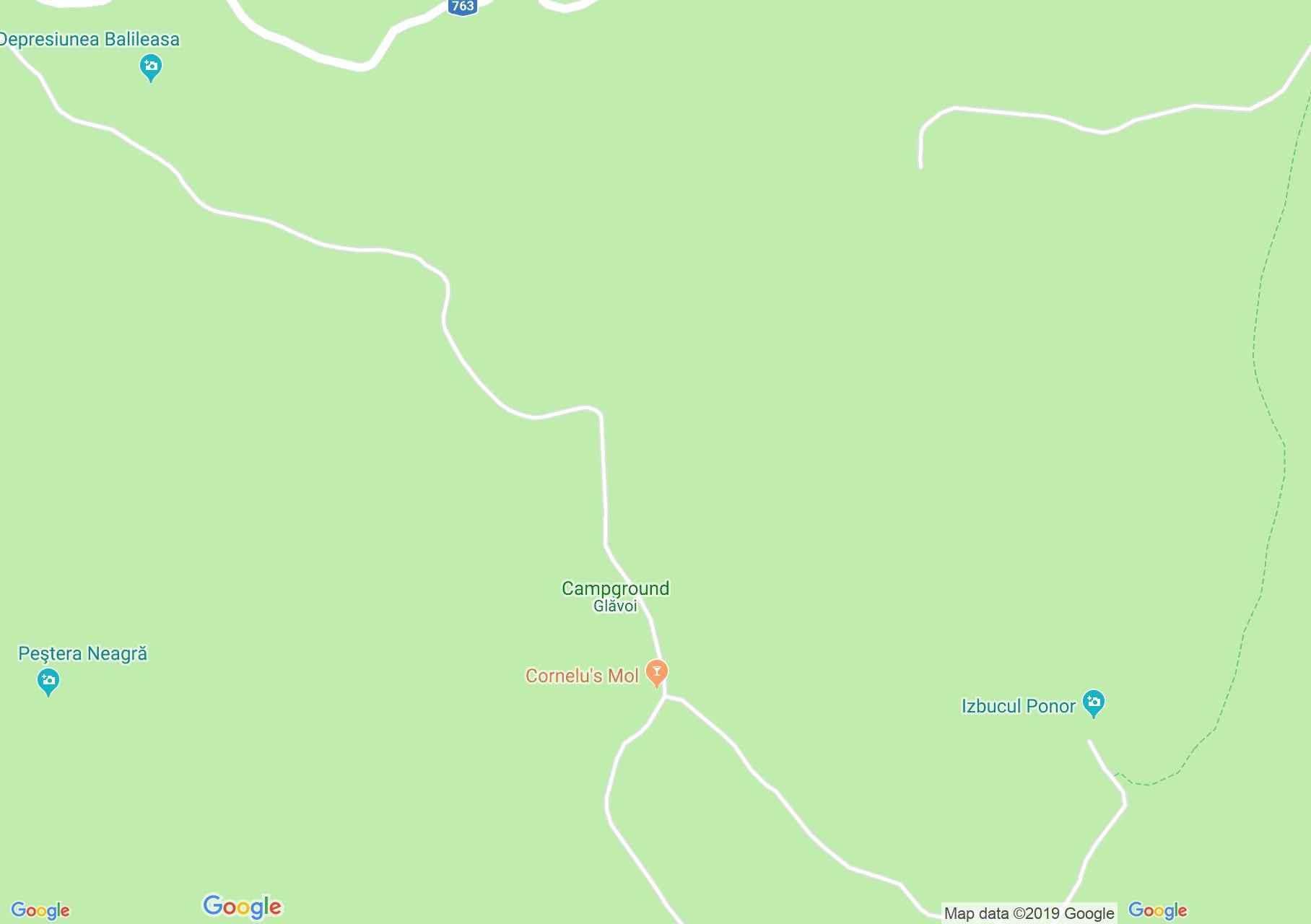 Hartă Glăvoi: Poiana şi cantonul Glăvoi