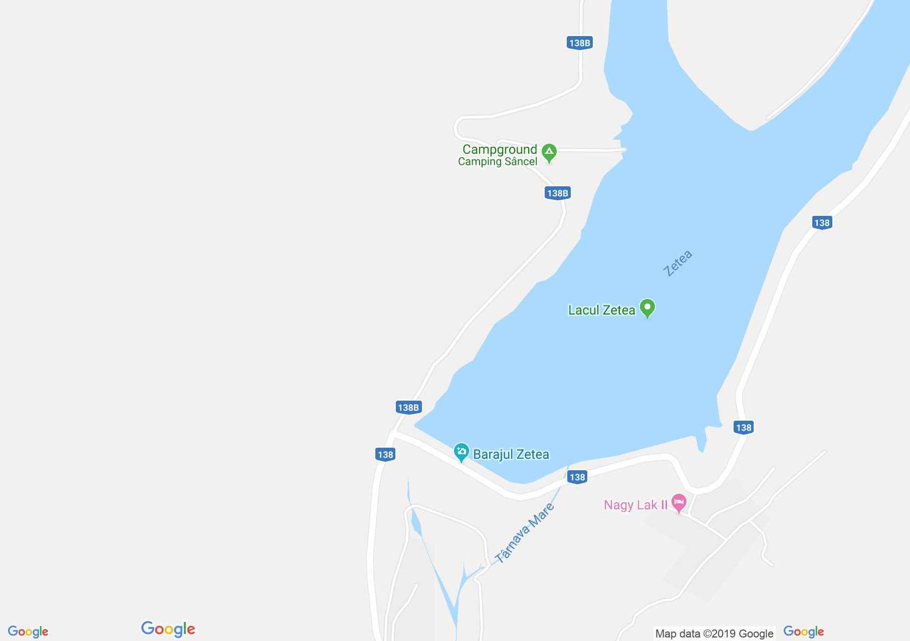 DN13a: Zetelaka víztározó (térkép)
