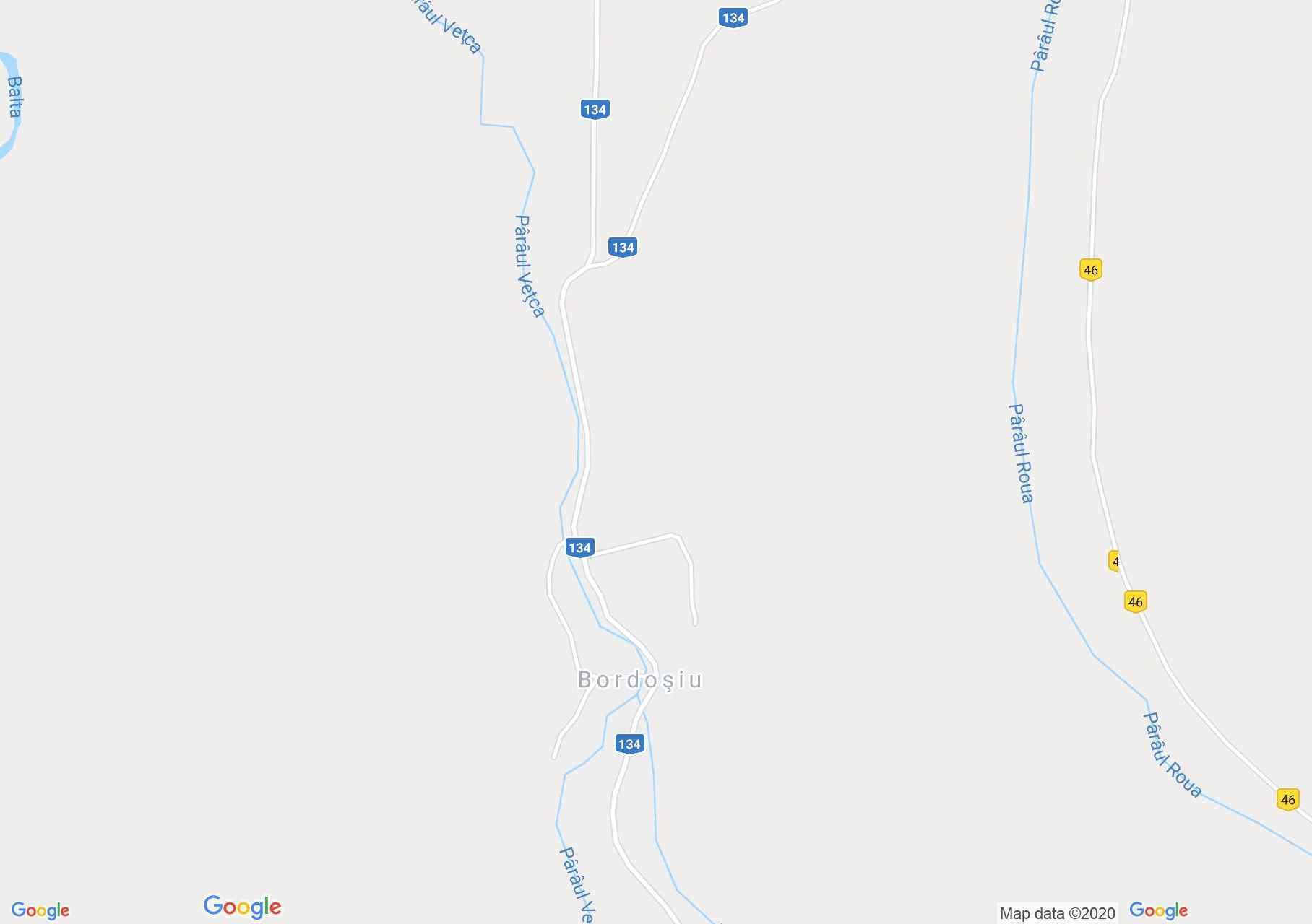 Map of Bordoşiu