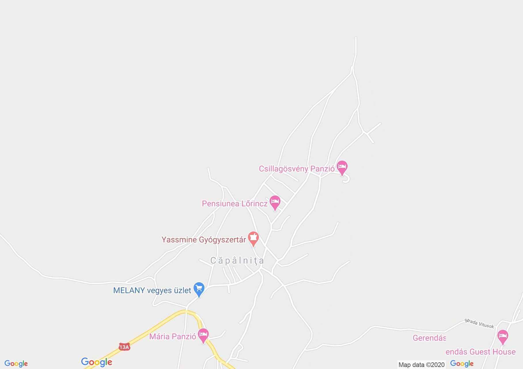 Kápolnásfalu: Katolikus templom (térkép)