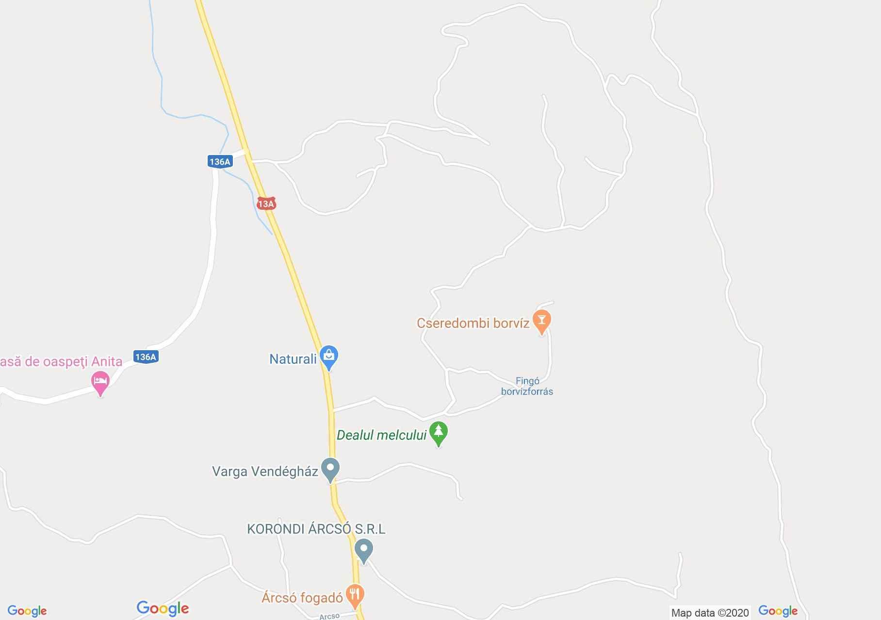 Korond: Csigadomb (térkép)
