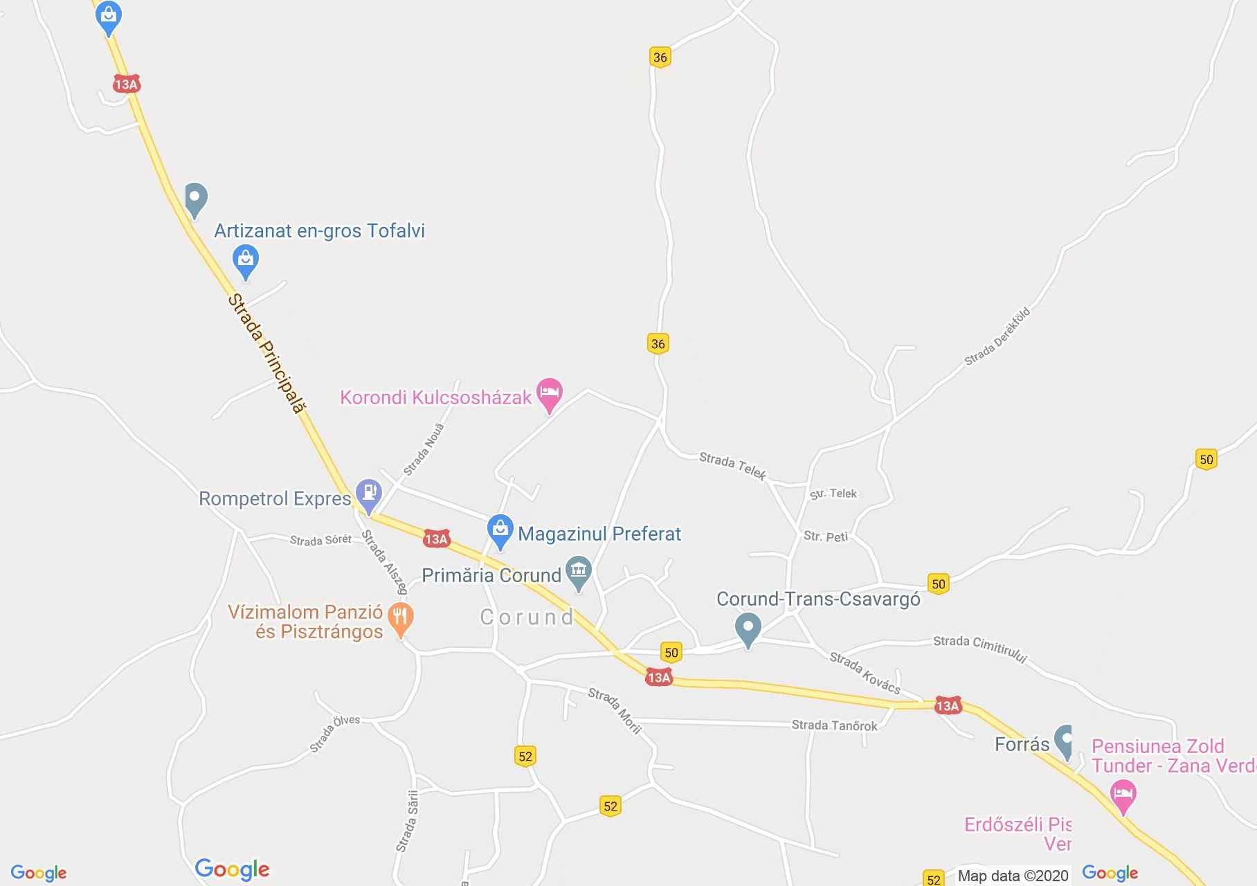 Hartă Corund: Muzeul satului