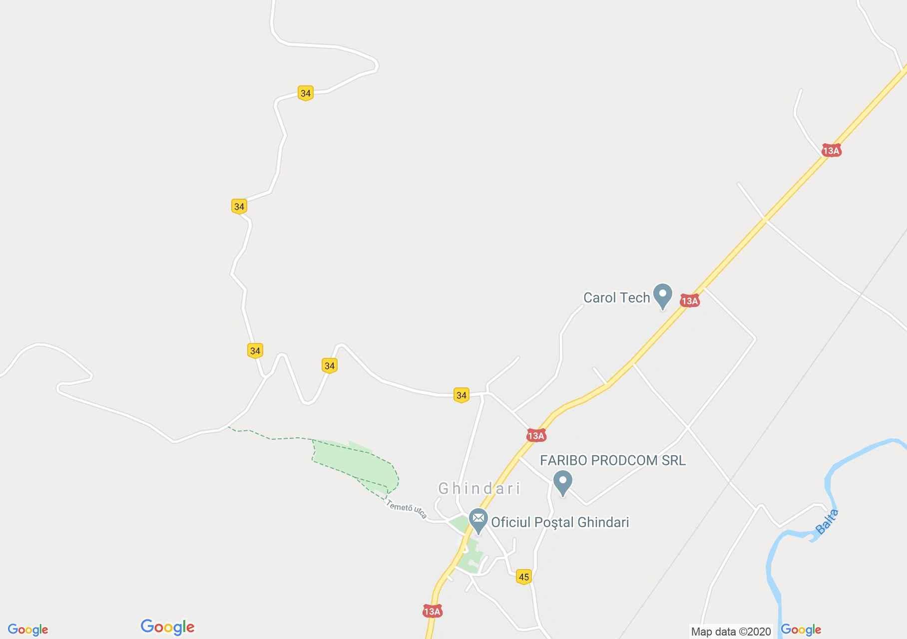 Map of Ghindari: Wesselényi school