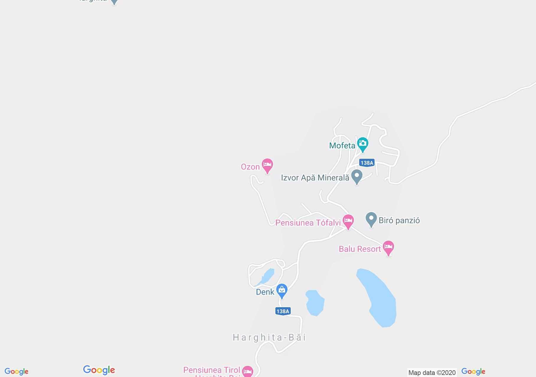 Hargitafürdő: Biatlon tó (térkép)