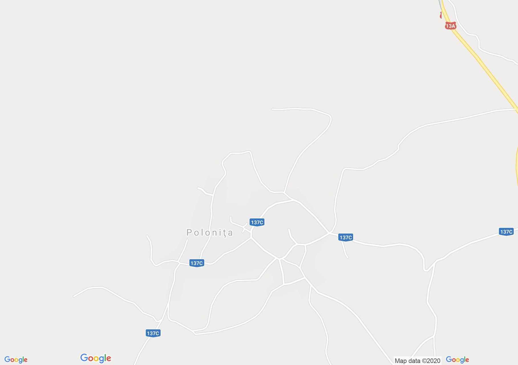 Map of Poloniţa: Catholic school