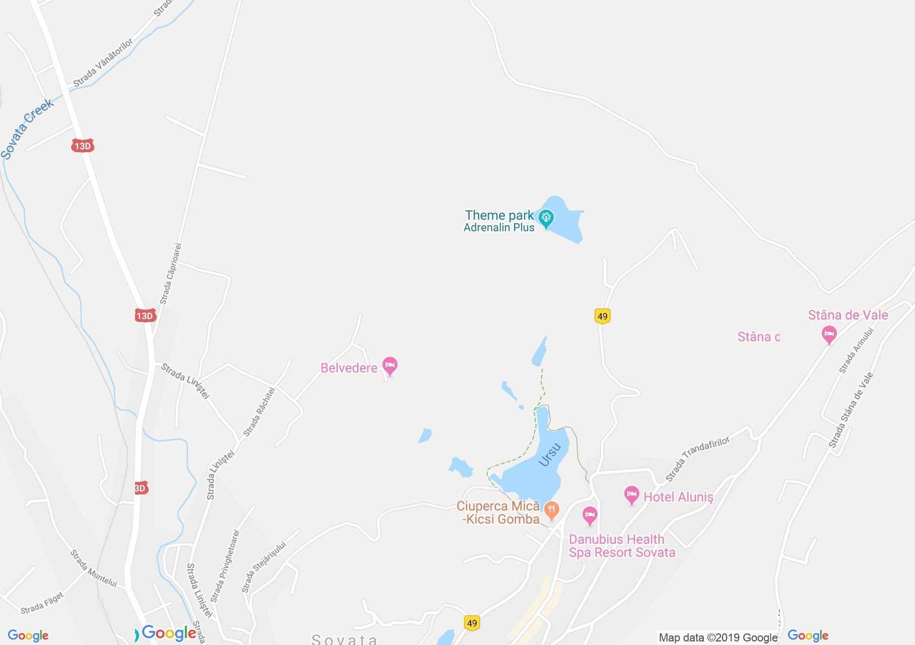 Szováta: Mogyorósi tó (térkép)