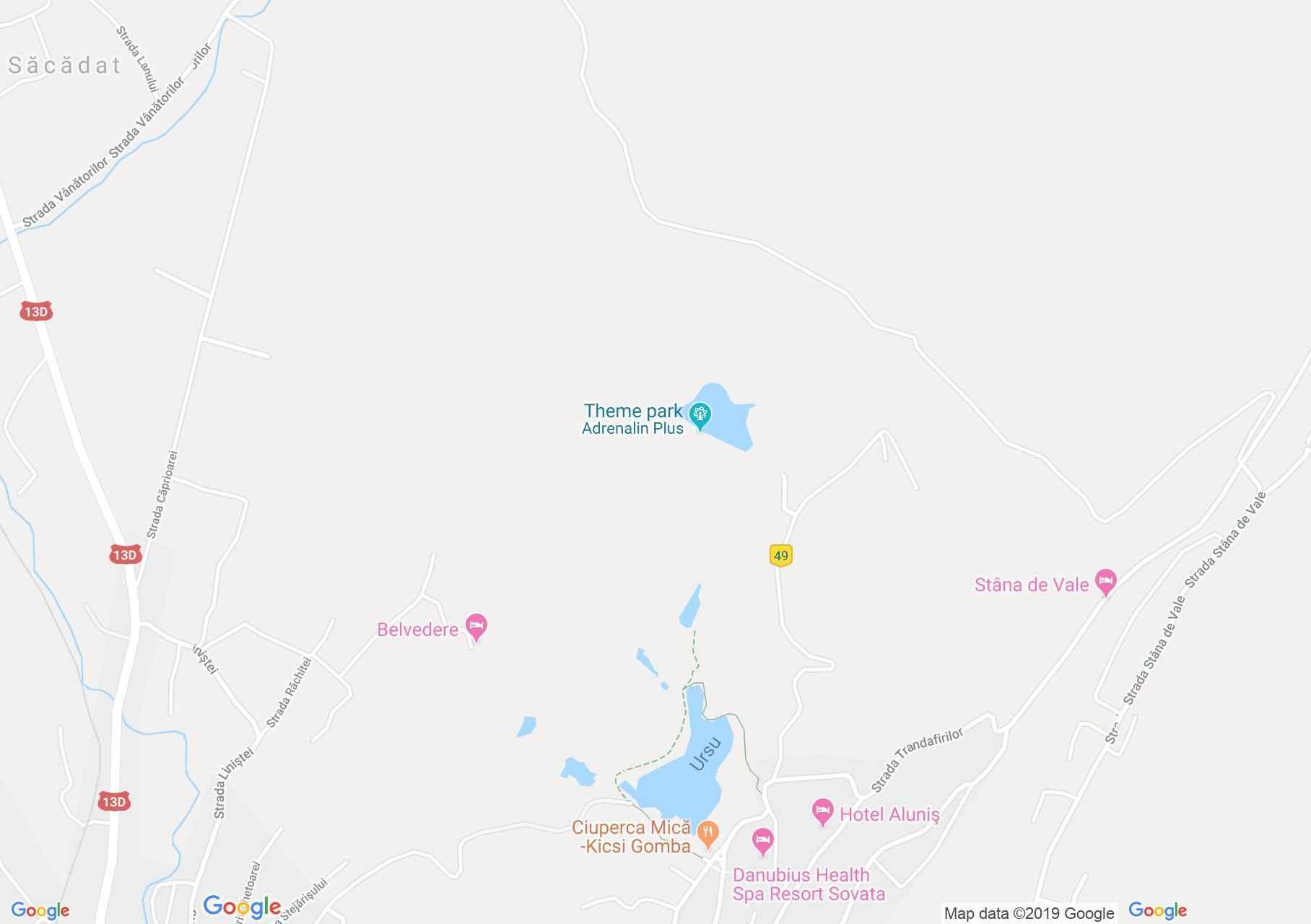 Hartă Sovata: Lacul Paraschiva