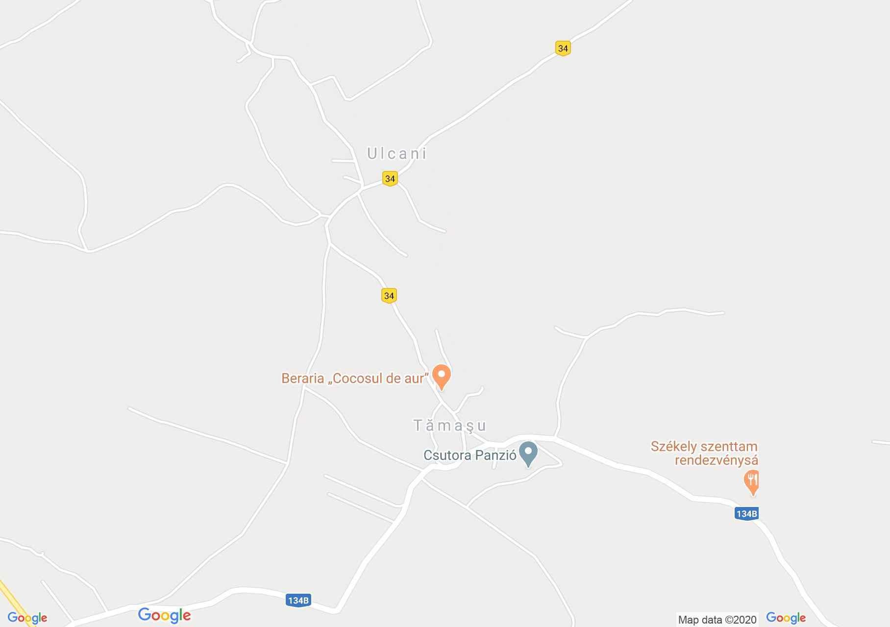 Székelyszenttamás: Katolikus templom (térkép)