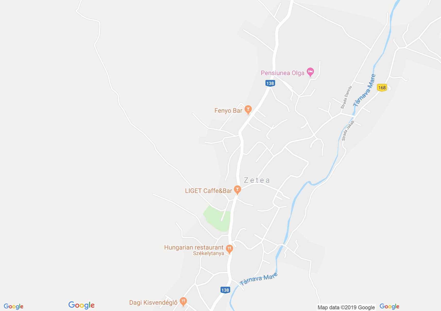 Zetelaka: Bándi kápolna (térkép)