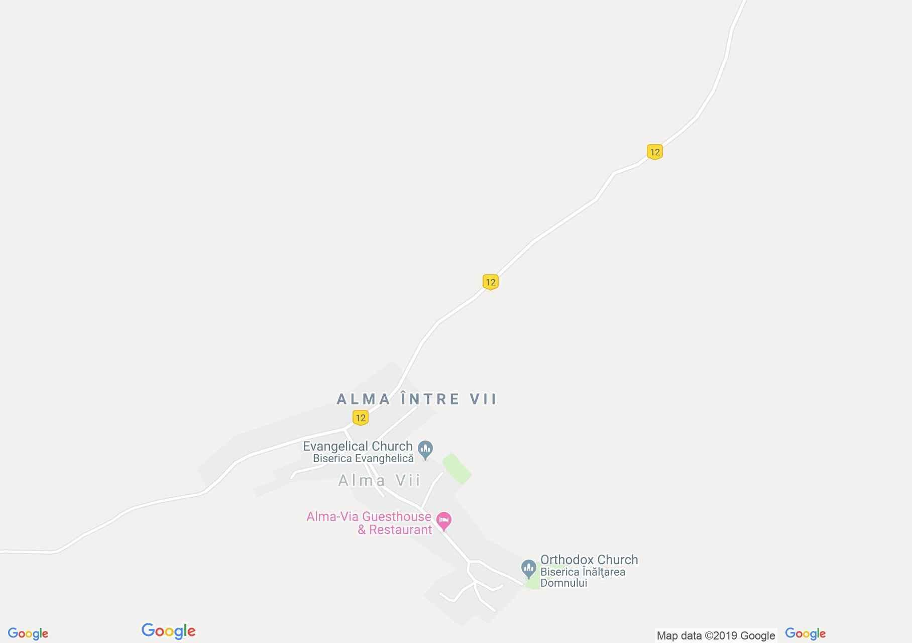 Szászalmád: Evangélikus erődtemplom (térkép)