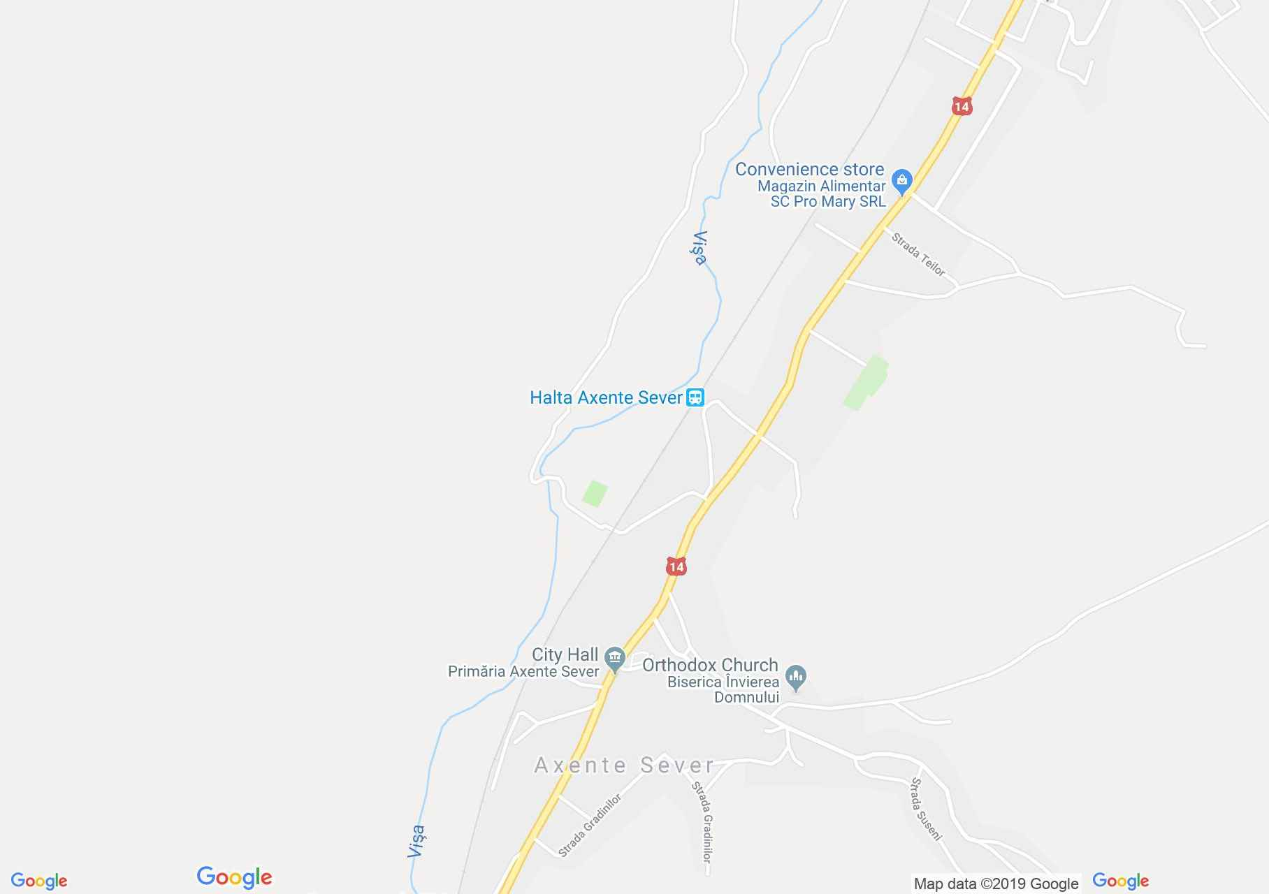 Hartă Axente Sever: Biserica evanghelică fortificată