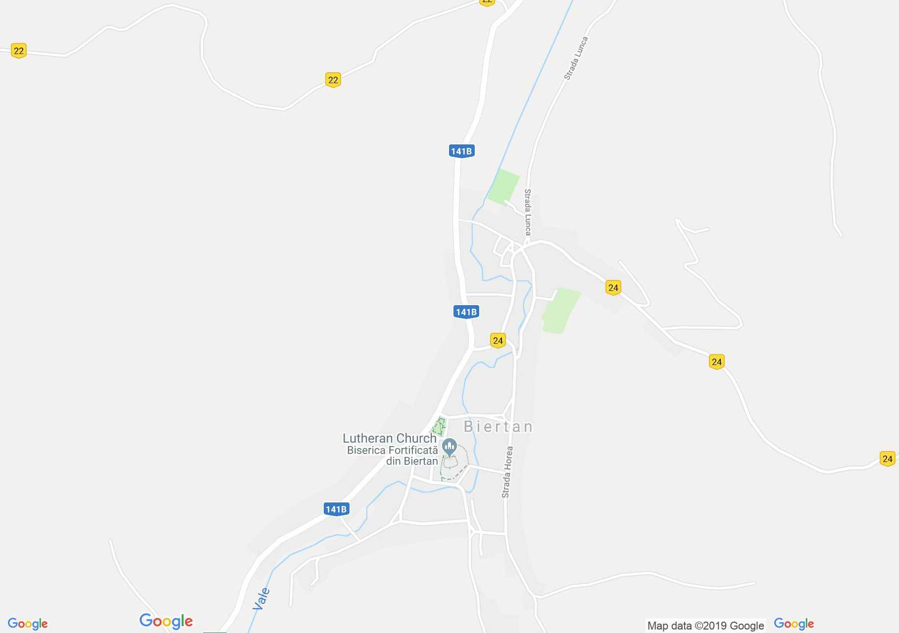 Hartă Biertan: Biserica evanghelică fortificată