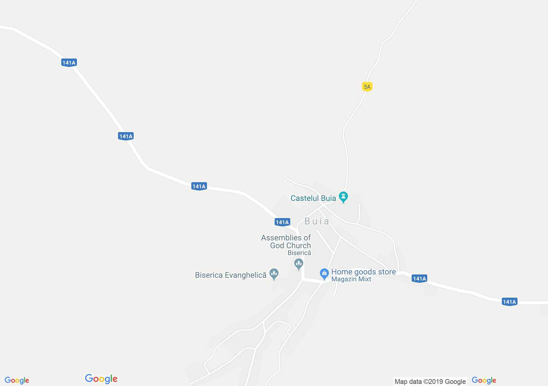 Bólya: Evangélikus templom (térkép)