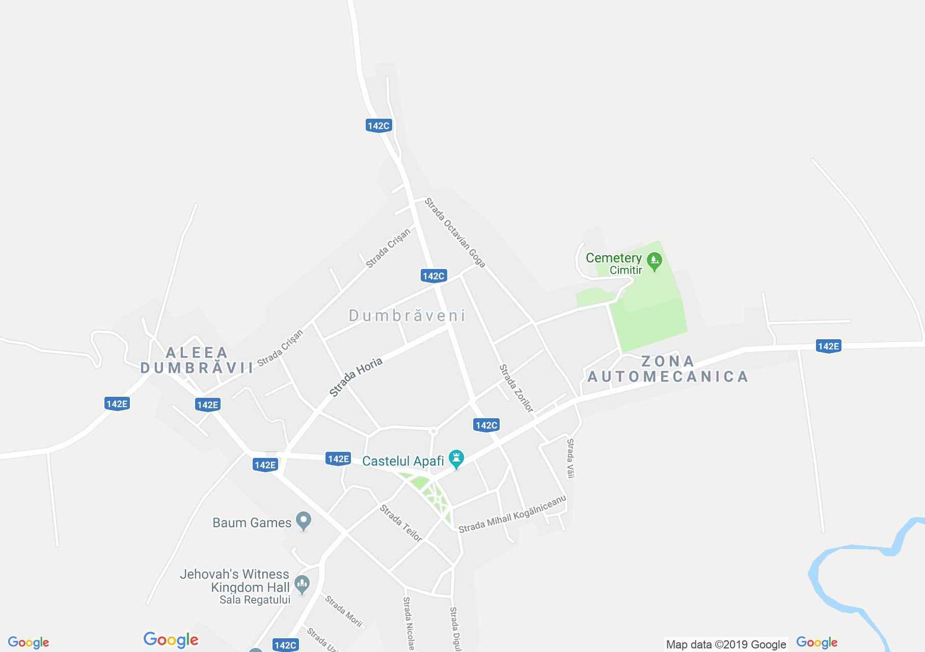 Hartă Dumbrăveni: Castelul Apafi