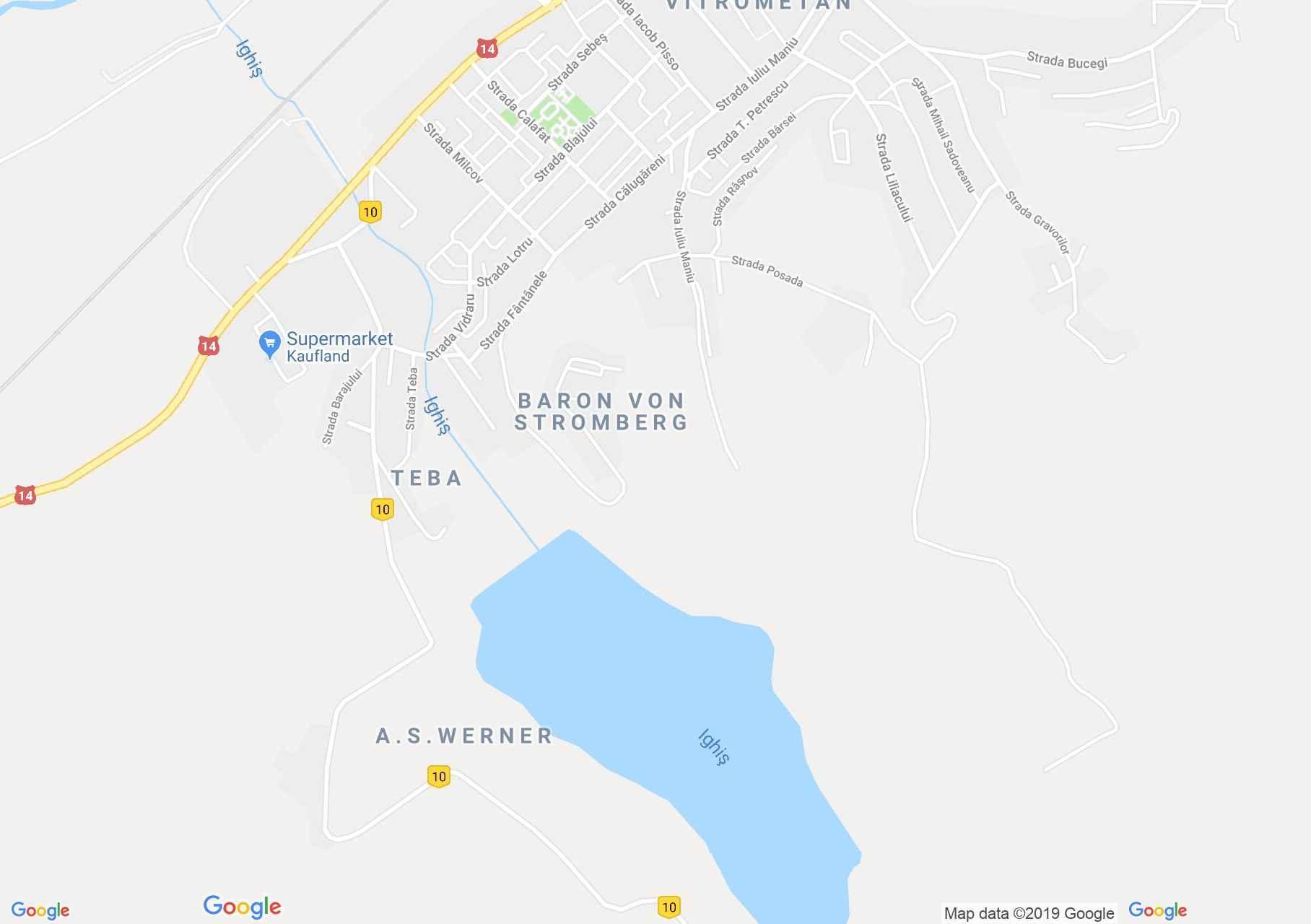 Map of Ighişu Nou: Ighiş lake