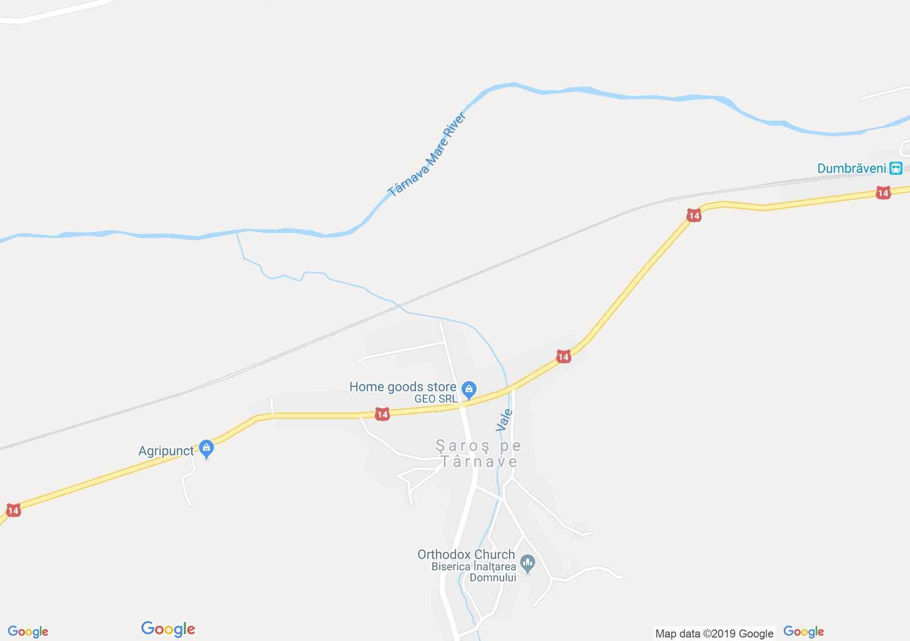 Hartă Şaroş pe Târnave: Biserica evanghelică fortificată
